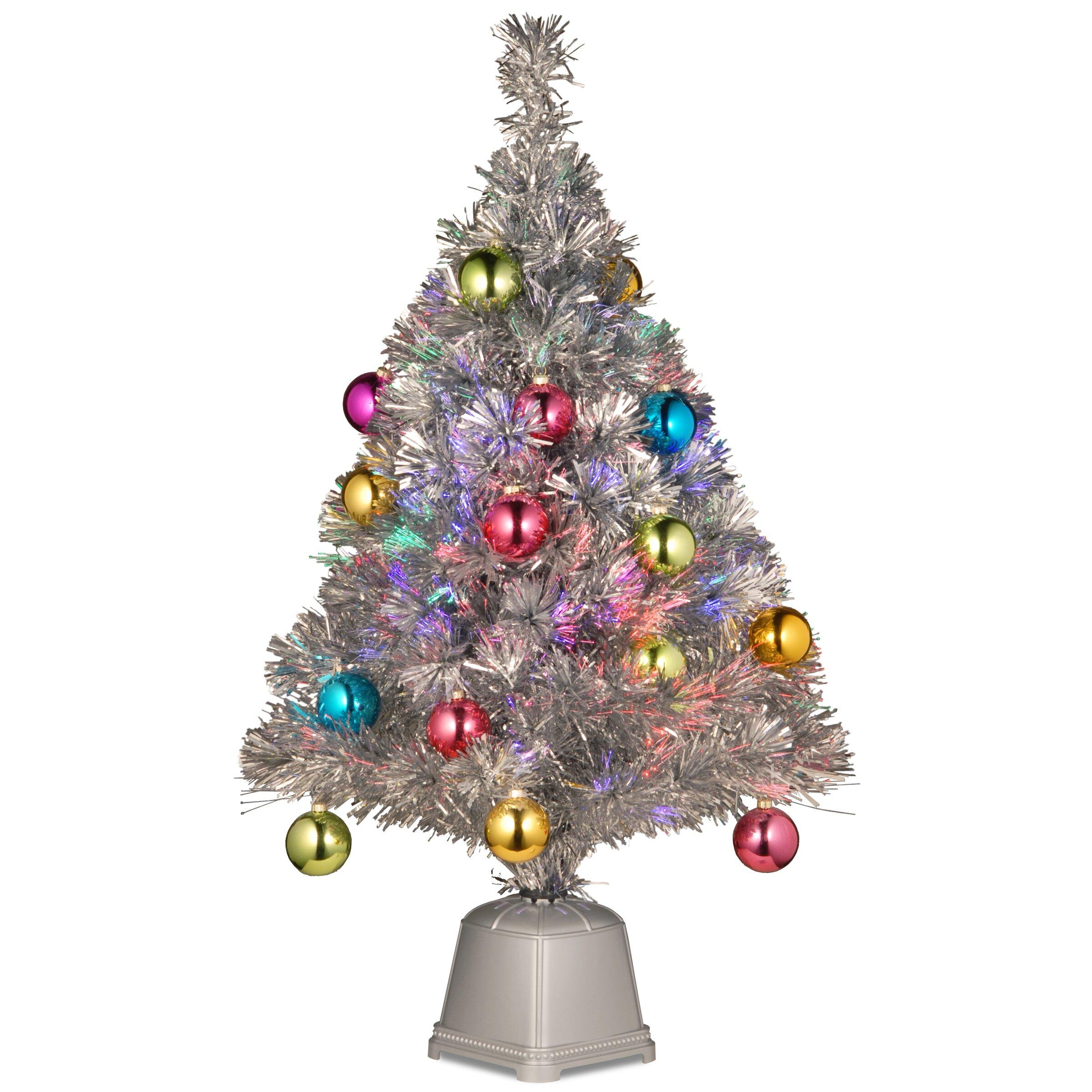 "Fiber Optic Light Christmas Tree: National Tree Co. Fiber Optics 2""8"" Silver Firework"