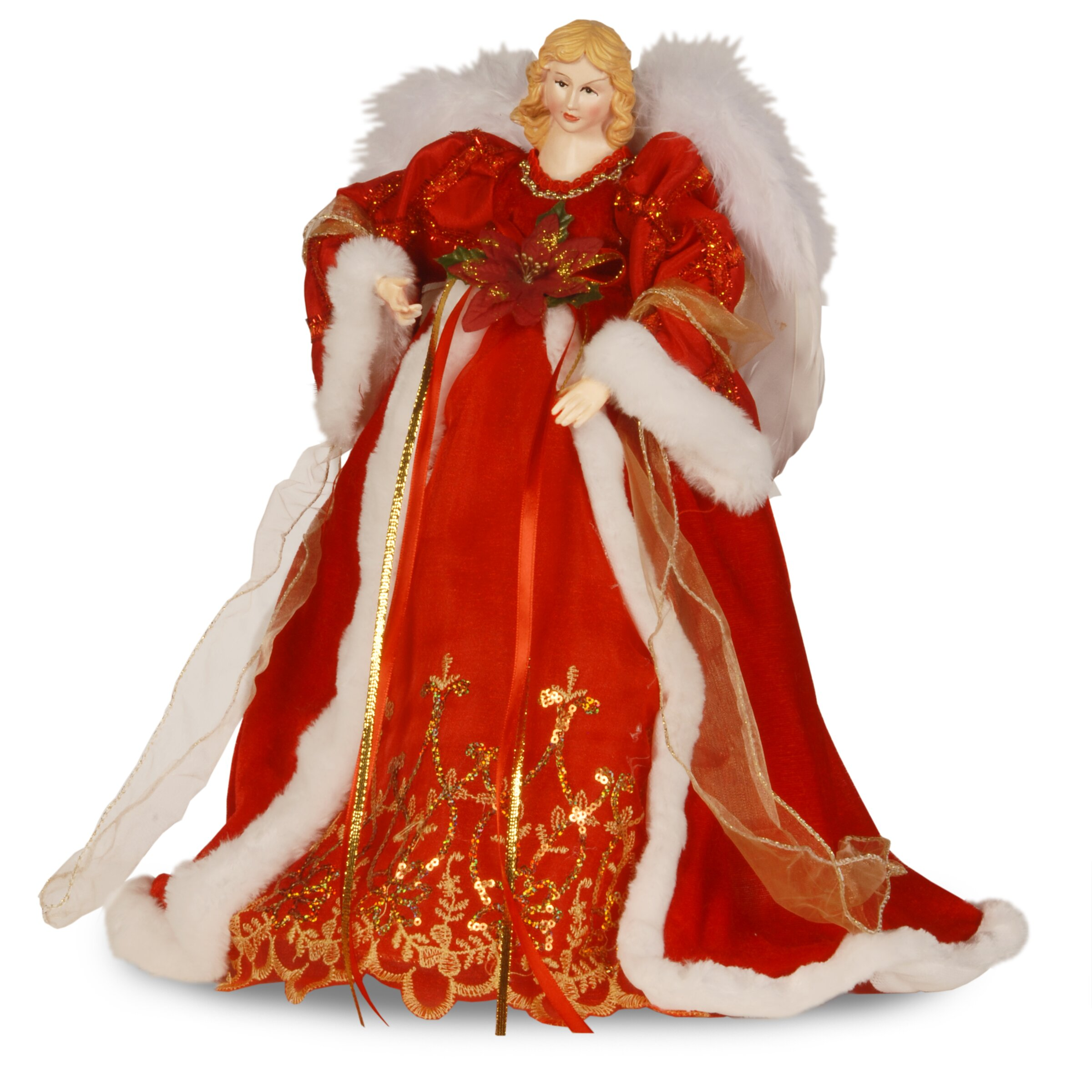 National tree co fabric d cor angel christmas decoration for Angel christmas tree decoration
