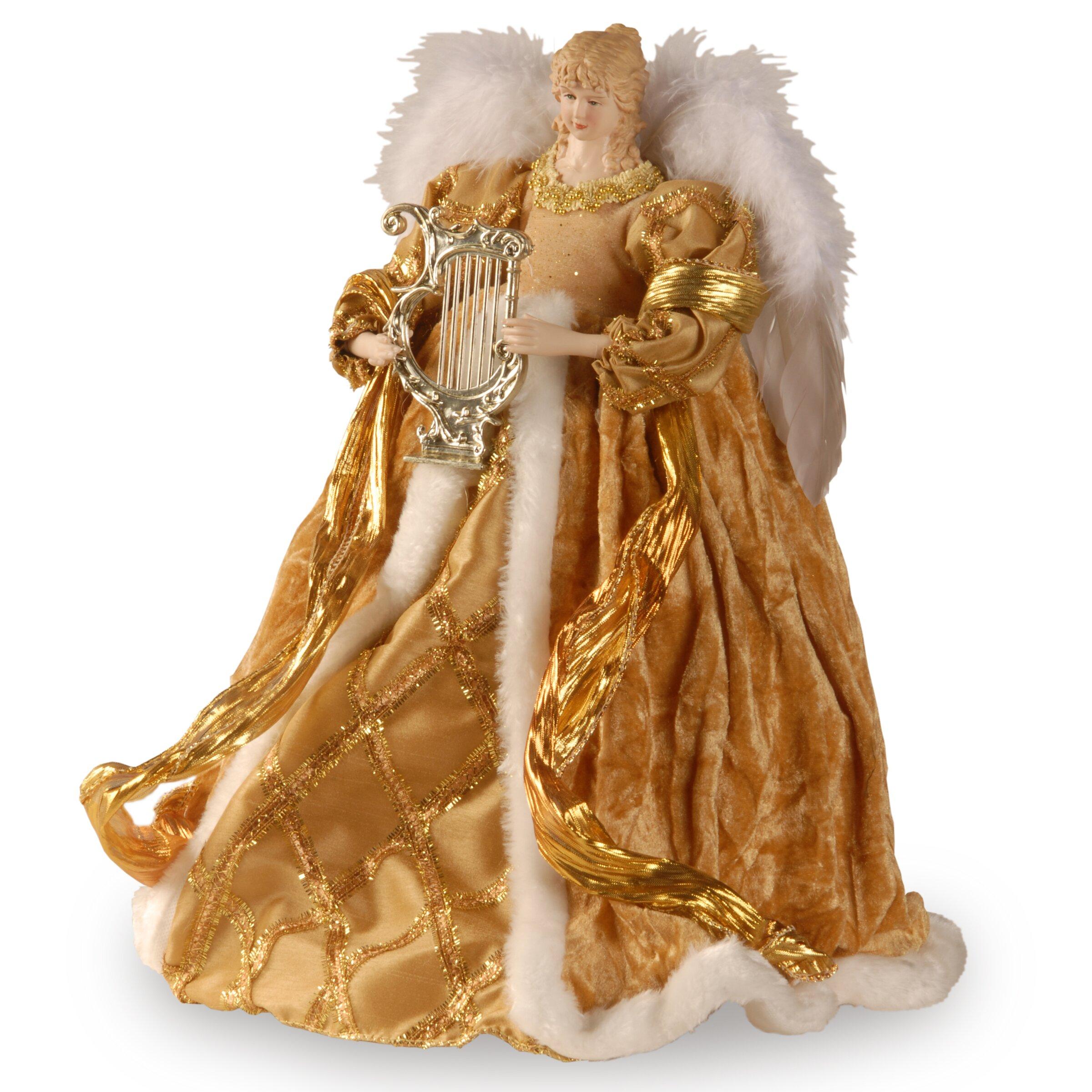 Fabric d cor angel christmas decoration wayfair for Angel christmas decoration