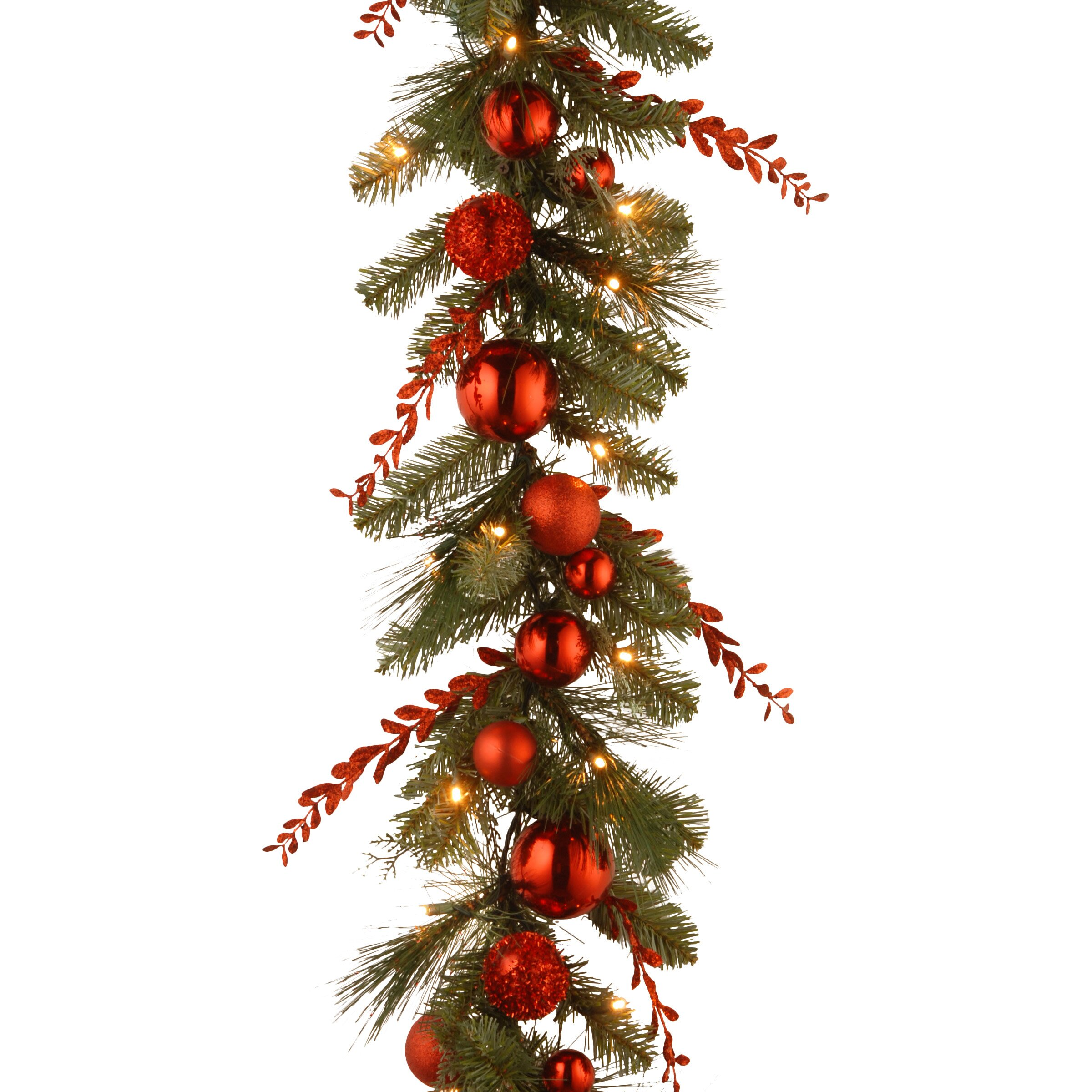 Outdoor Christmas Decorations: National Tree Co. Decorative Pre-Lit Christmas Mixed