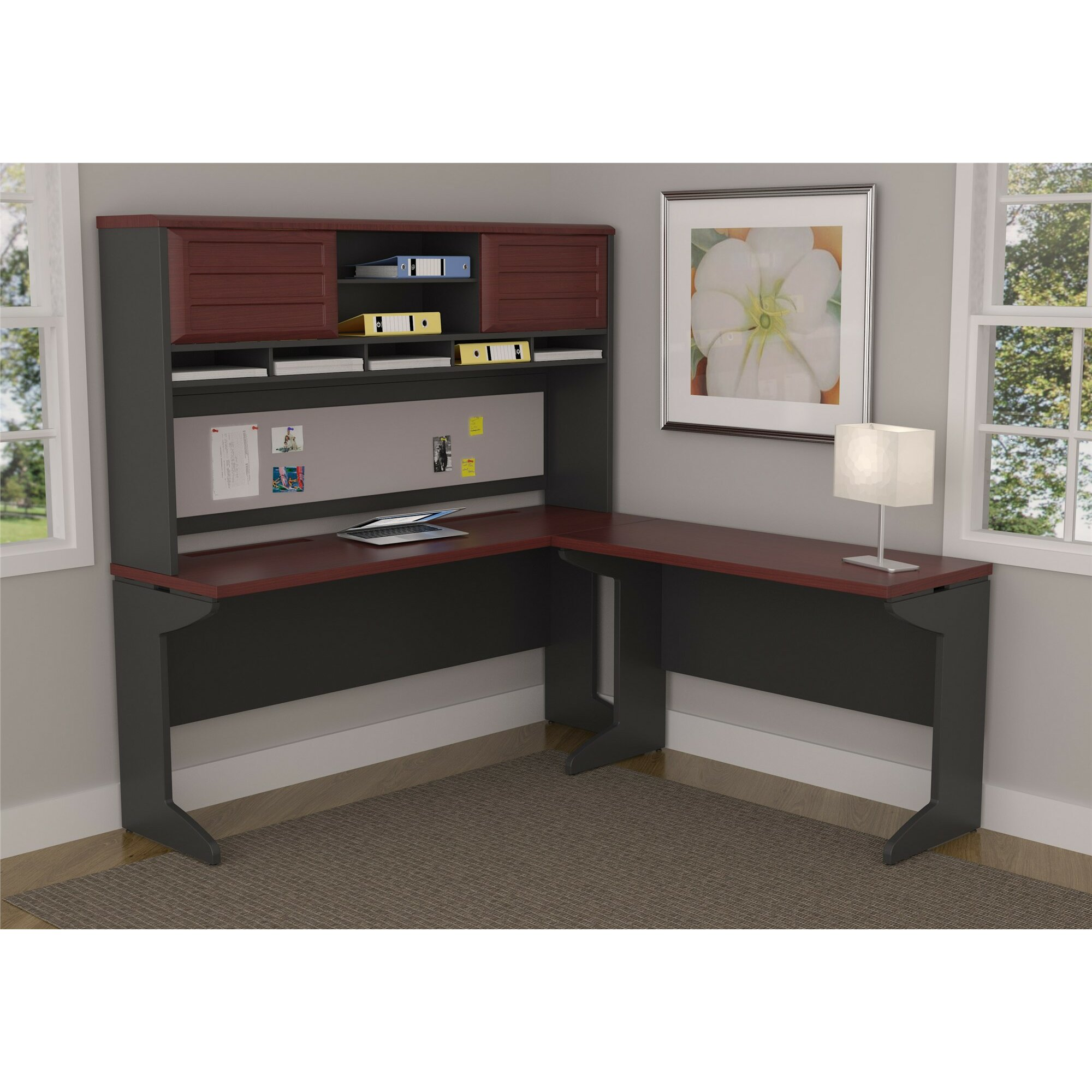 Altra Pursuit L Shape Desk Shell With Hutch Amp Reviews