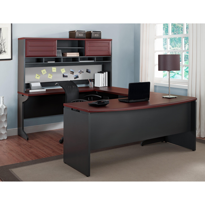 Altra Pursuit U Shape Computer Desk With Hutch Amp Reviews