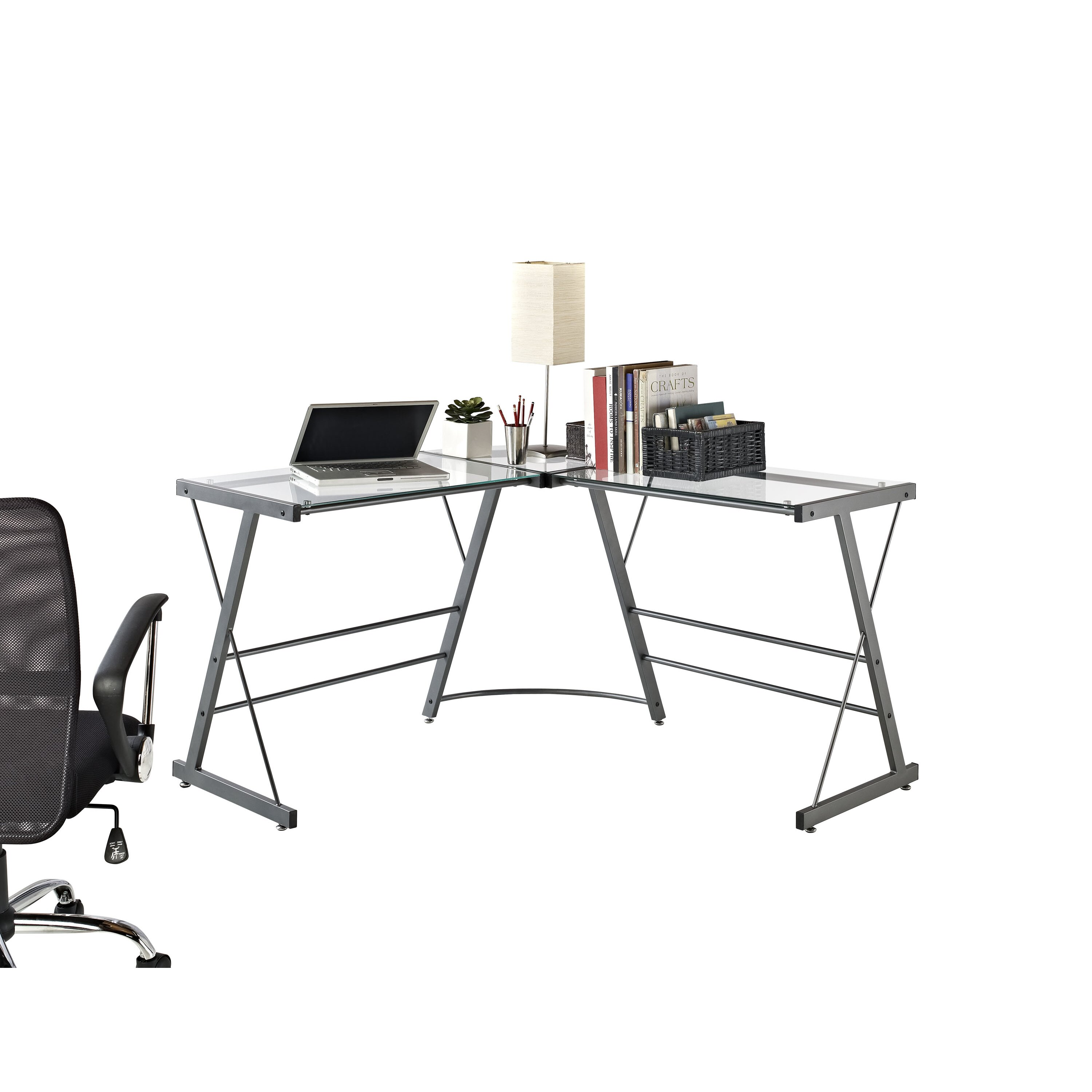 Altra Glass L Shaped Writing Desk & Reviews Wayfair. Full resolution‎  picture, nominally Width 3000 Height 3000 pixels, picture with #903E3B.