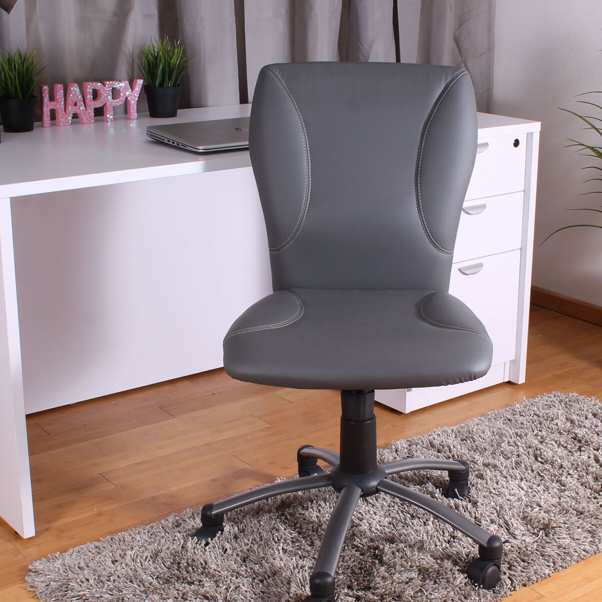 Ikea Off White Rug Release Date: Boss Office Products Tiffany Adjustable Mid-Back Task