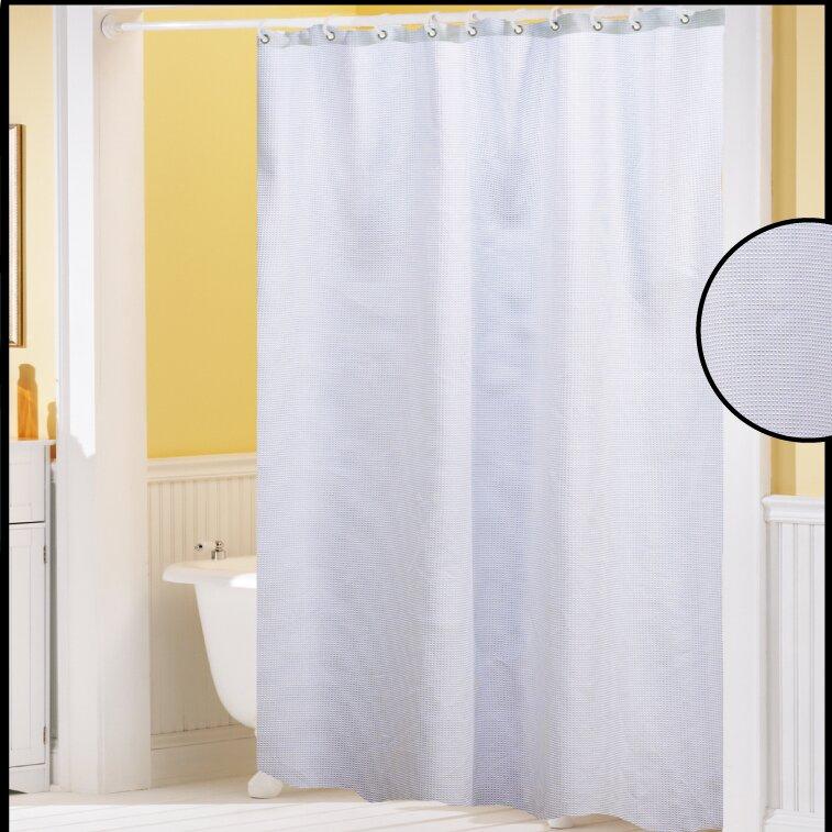 waffle weave shower curtain wayfair