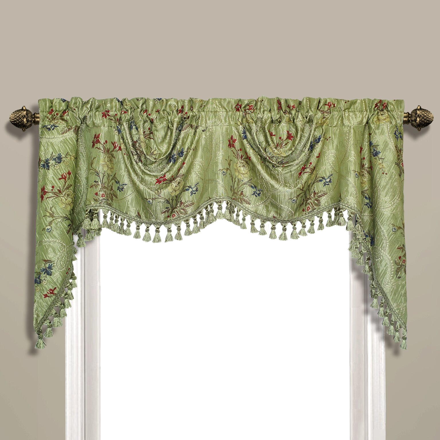 Black Sheer Curtains With Attached Valance