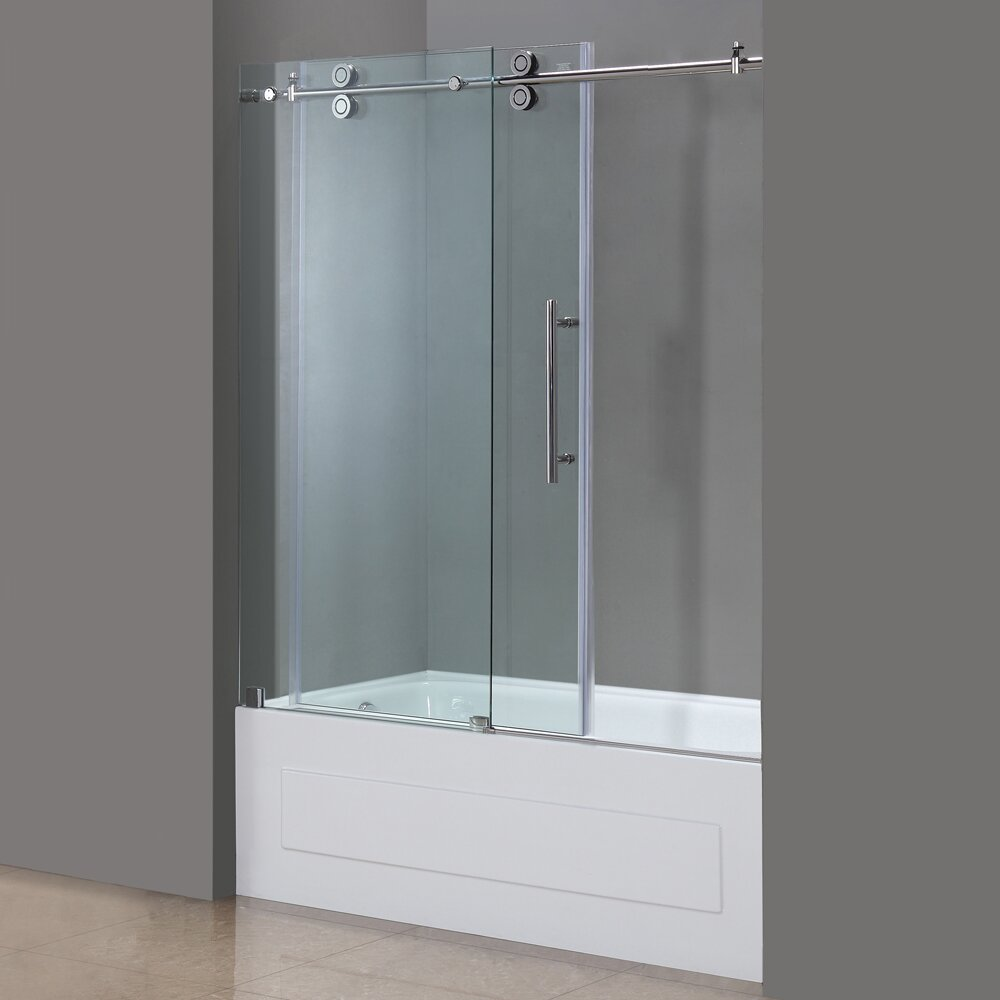 Aston Langham 60 Quot X 60 Quot Completely Frameless Tub Height