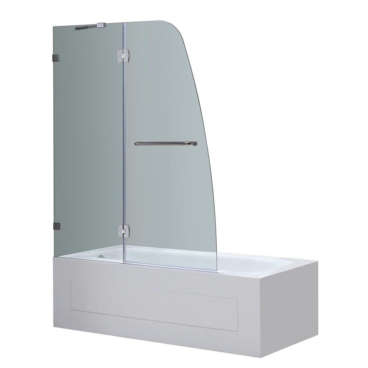 48 X 58 Pivot Frameless Tub Height Shower Door Wayfair