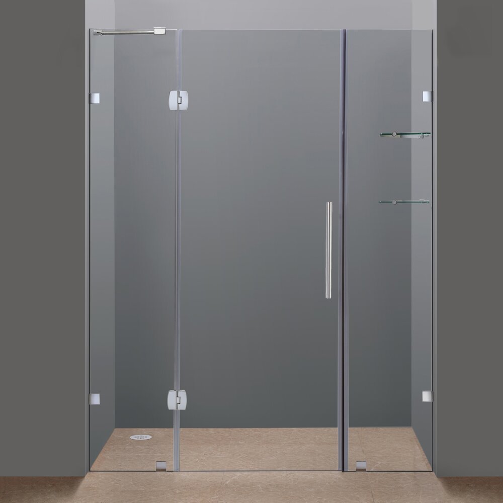 Aston Soleil 75 Quot X 60 Quot Completely Frameless Hinged Shower