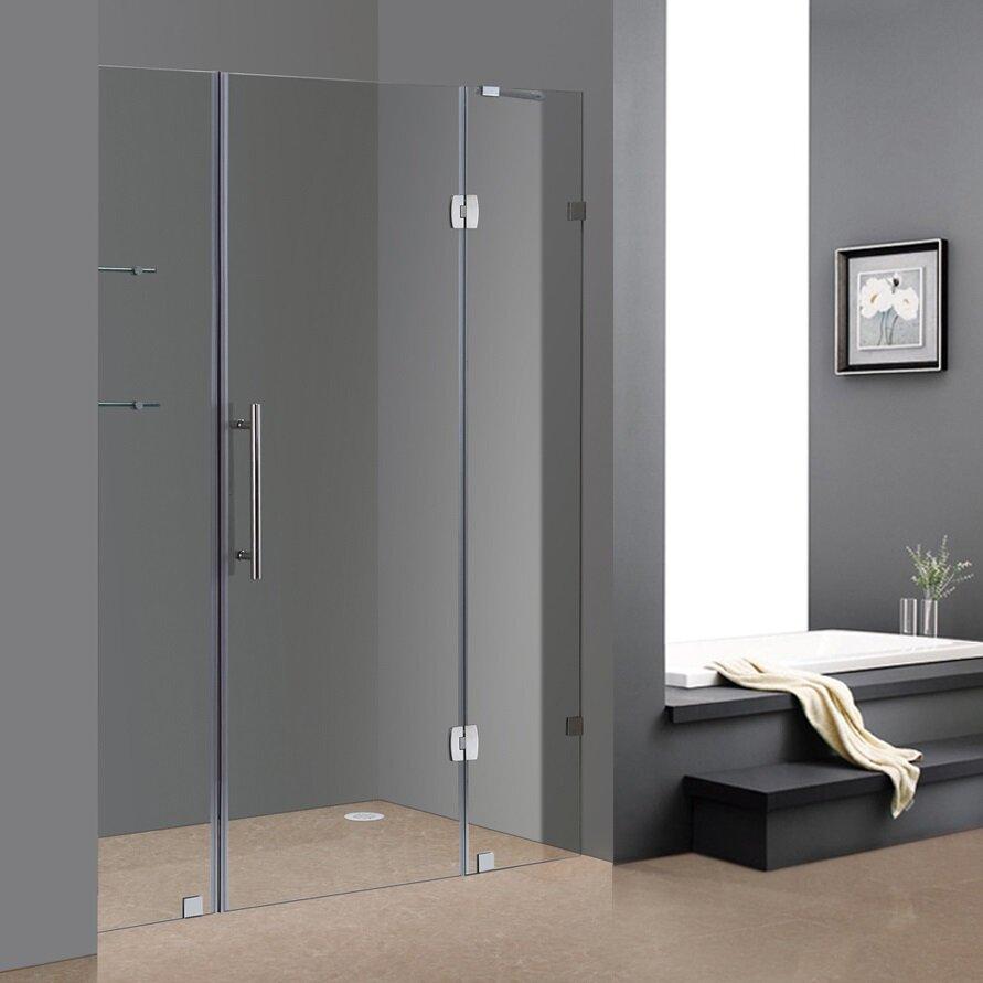 75 x 60 completely frameless sliding shower door with glass s