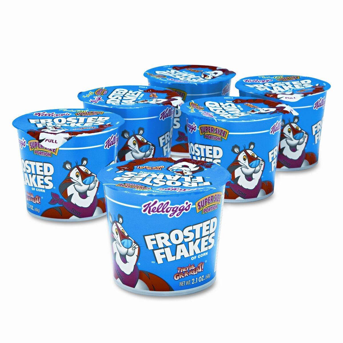 Breakfast Cereal, Frosted Flakes, Single-Serve 2.1oz Cup