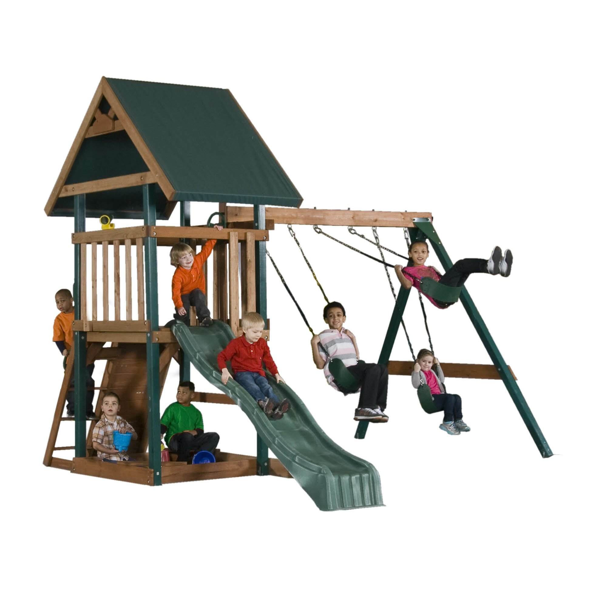 mongoose manor swing set by backyard play systems