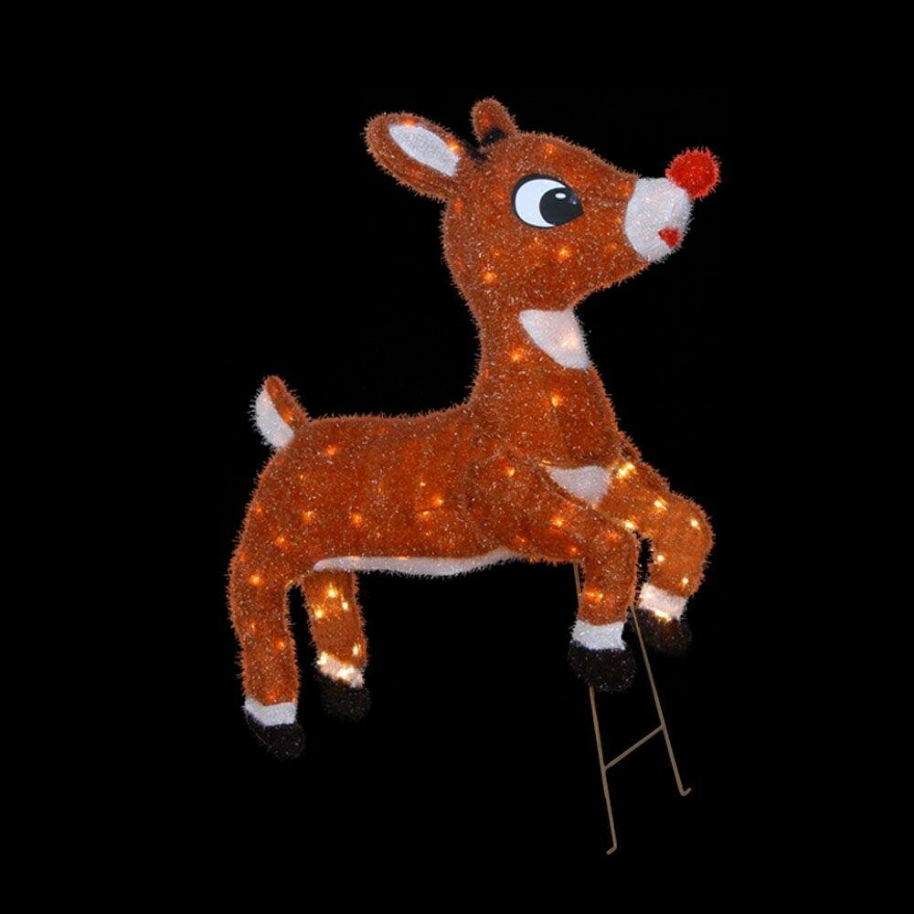 Soft Tinsel Rudolph the Red Nosed Reindeer Christmas ...