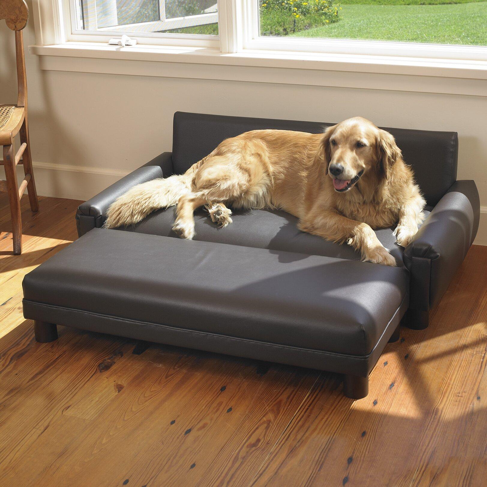 Mission Hills Faux Leather Dog Sofa Amp Reviews Wayfair
