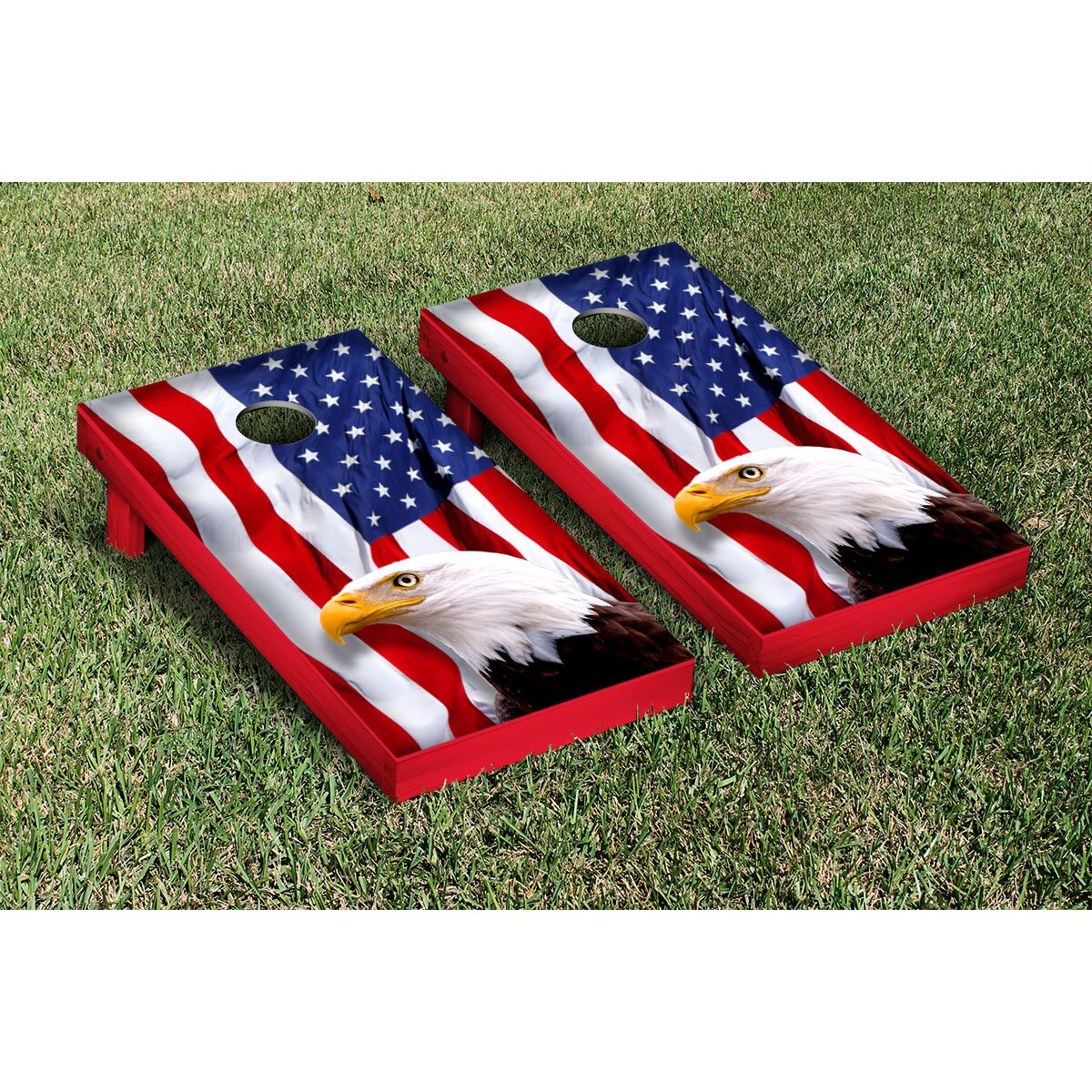 Victory Tailgate American Eagle USA No Mountain Version Cornhole Game Set & Reviews | Wayfair