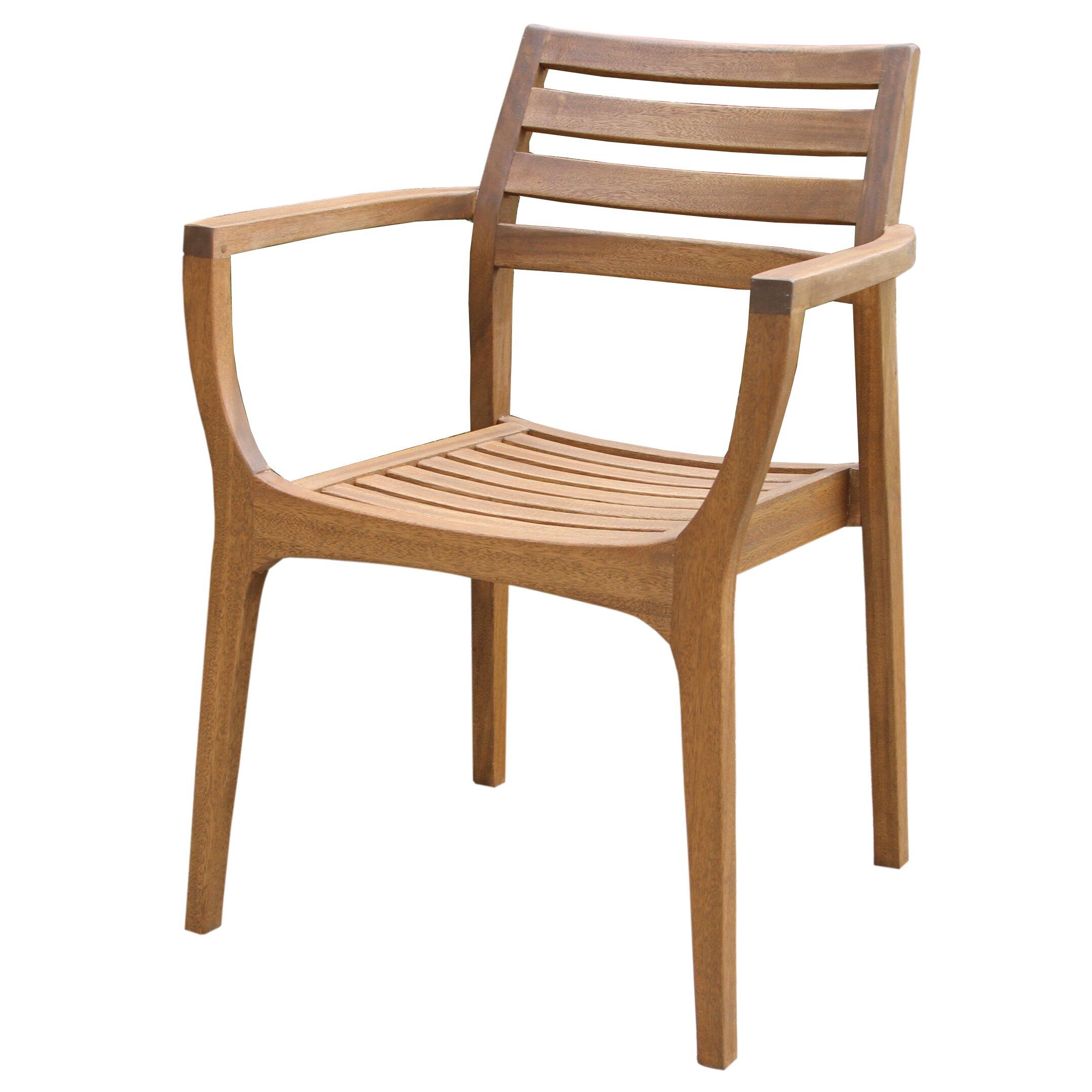 Outdoor Interiors Danish Eucalyptus Stacking Chair