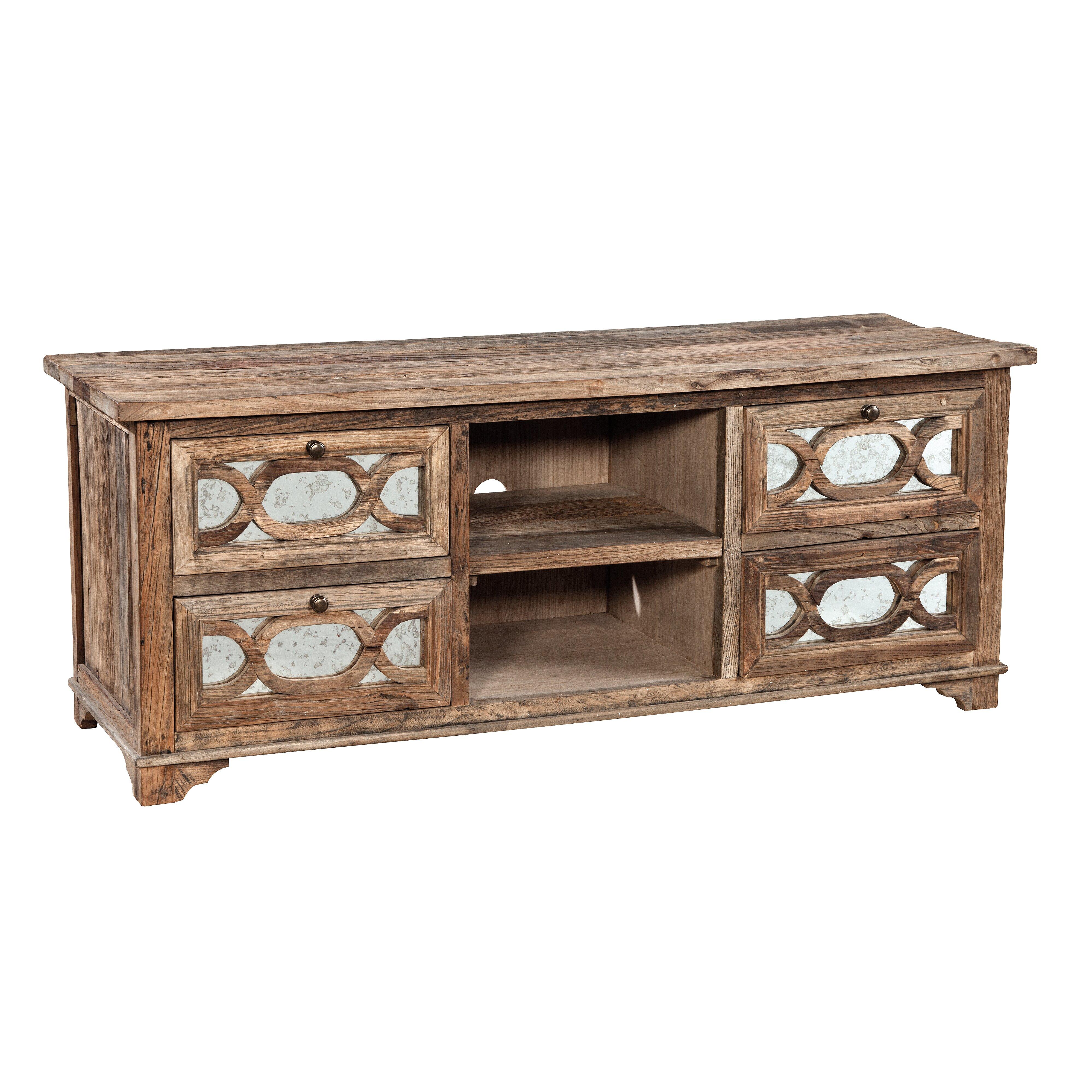 Furniture Classics LTD Mirrored Media TV Stand & Reviews