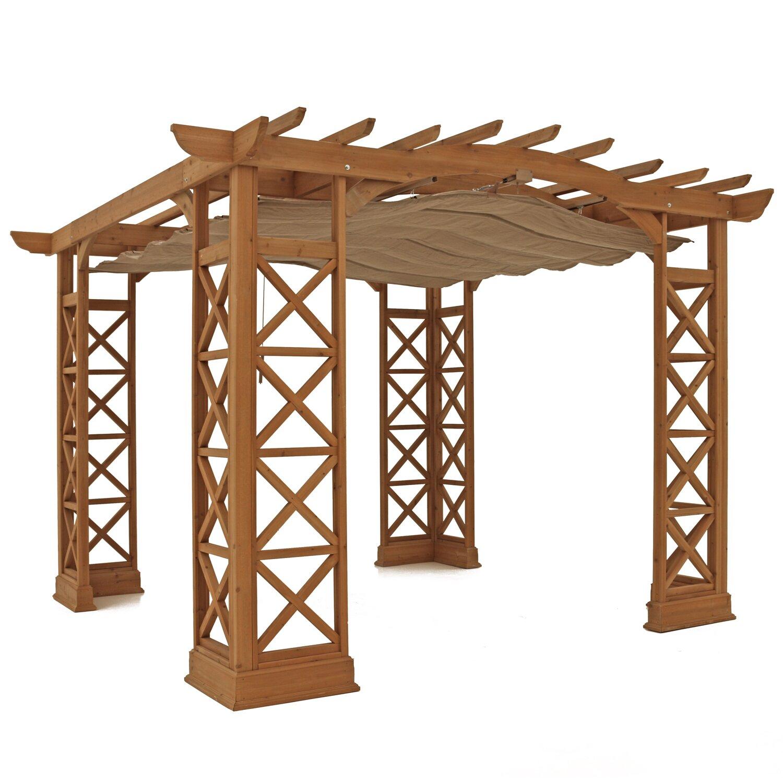 Retractable canopy for pergola - Outdoor Outdoor Shades Structures All Pergolas Yardistry Sku