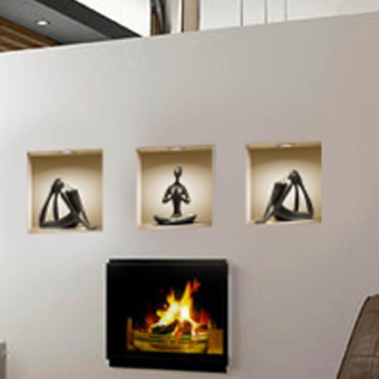 Ceramic Figure Wall Decals 3D effect