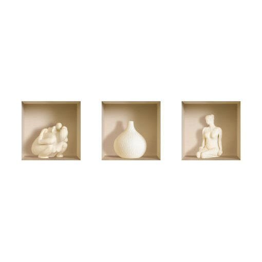 Ceramic Figure Wall Decals 3D effect