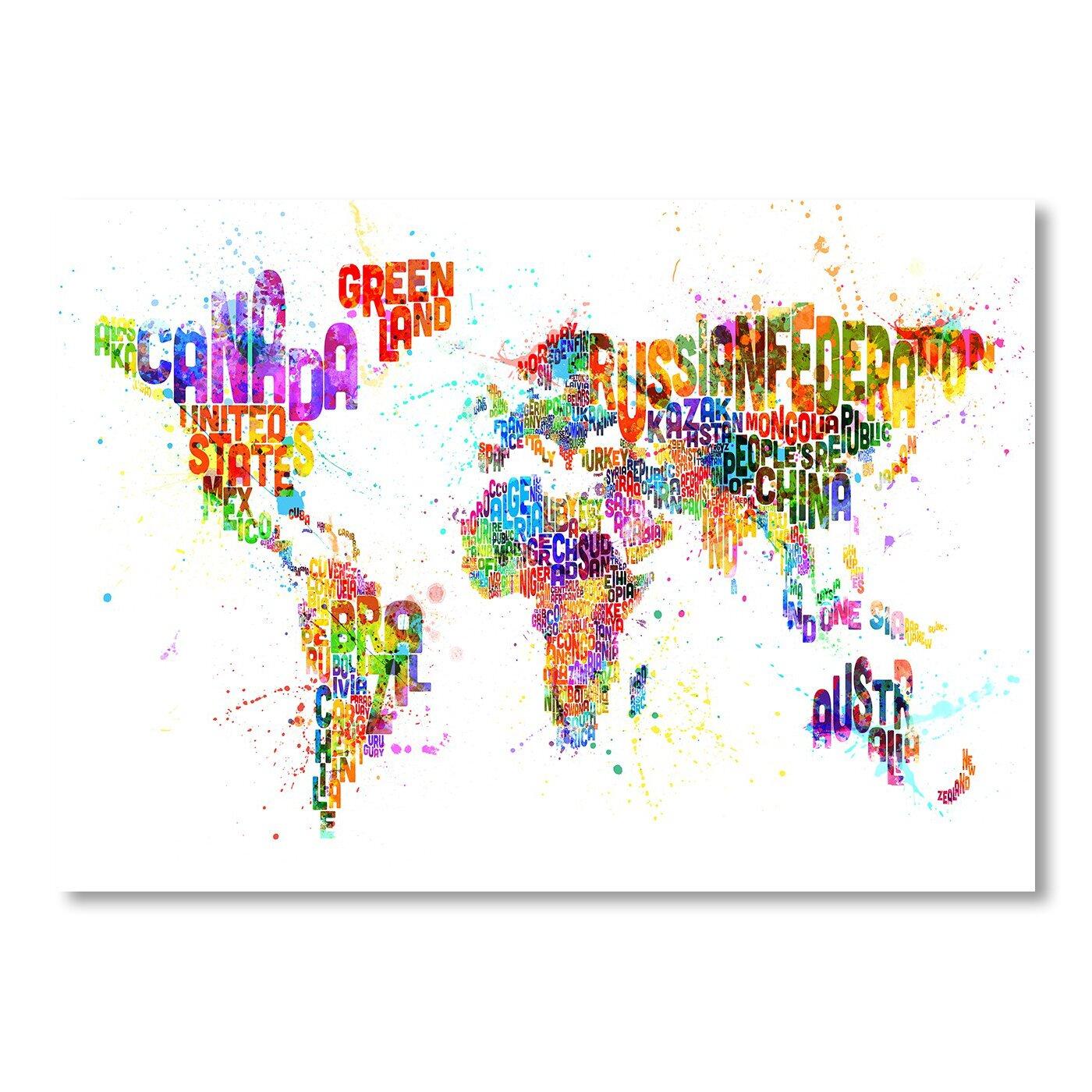 world word map wall mural wayfair giant classic world map mural by maps international