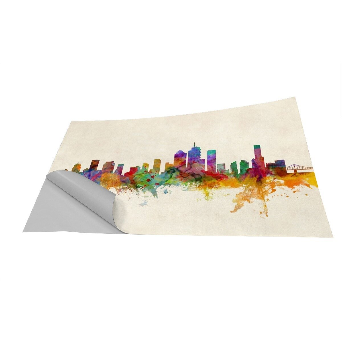 brisbane australia skyline wall mural wayfair modern skyline designs home decor accessories amp by