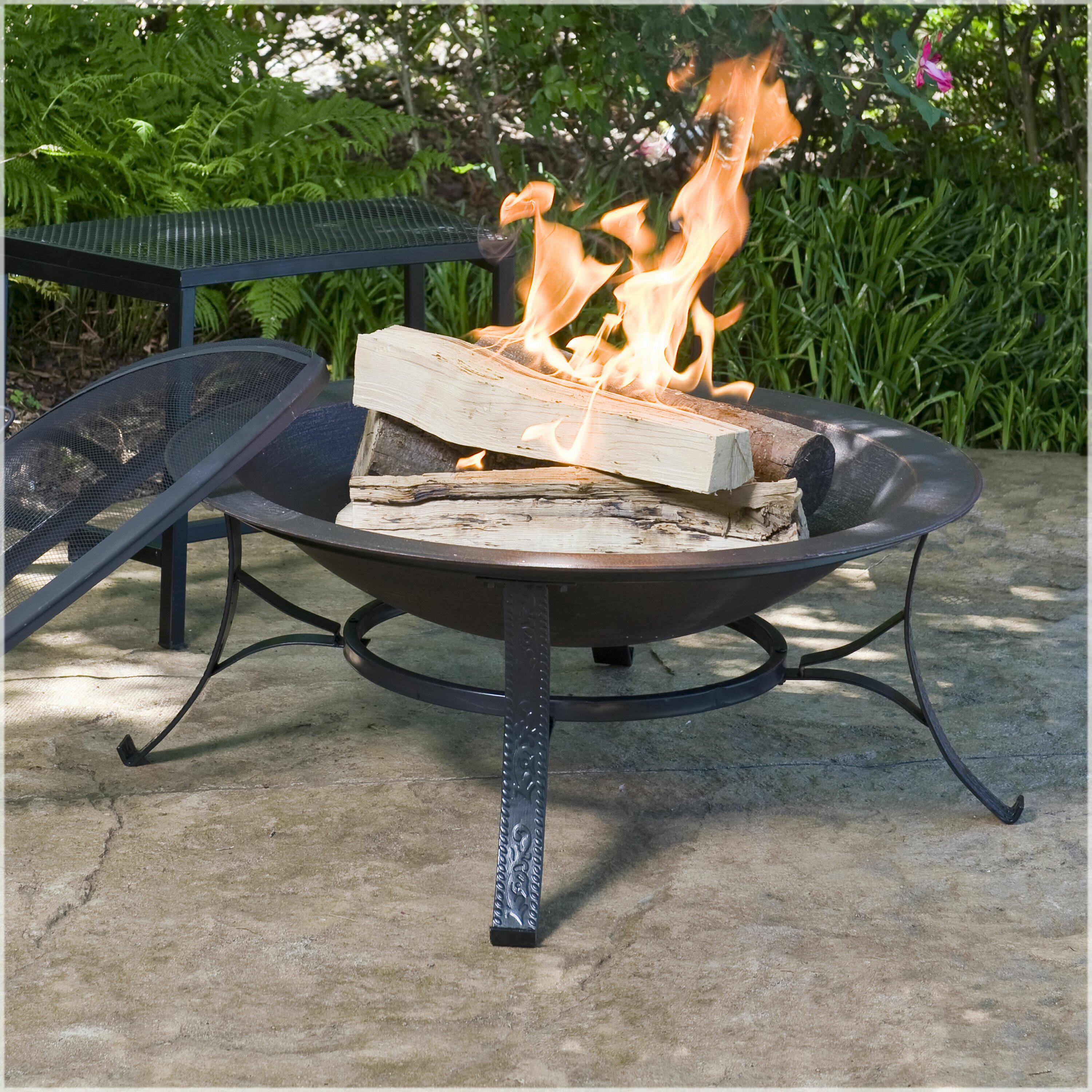 Cobraco Round Cast Iron Copper Finish Fire Pit Amp Reviews