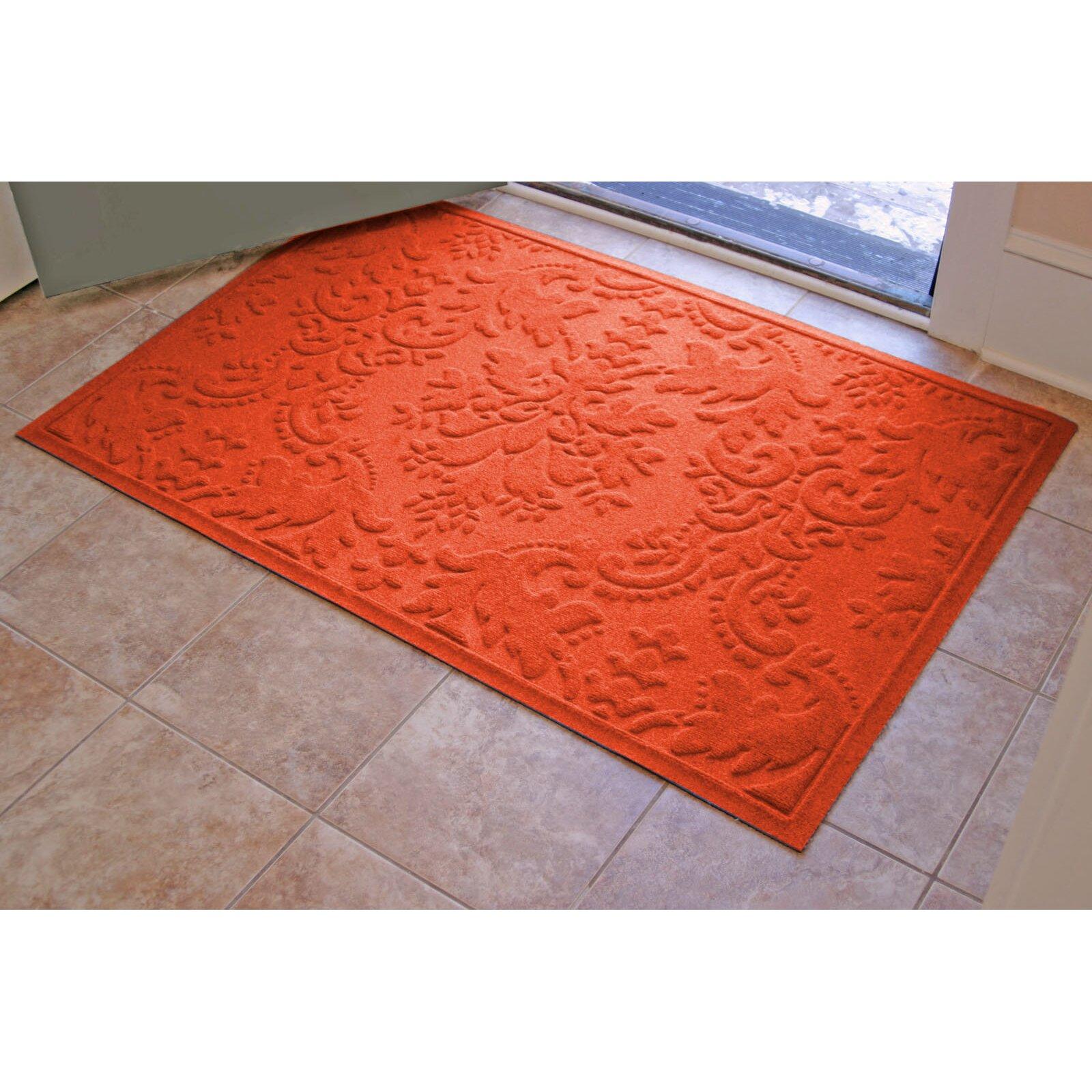 Bungalow Flooring Aqua Shield Damask Doormat & Reviews