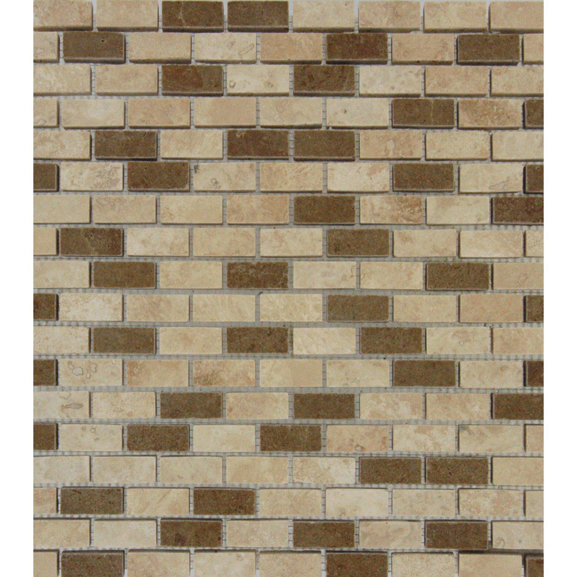 13x13 Marfil Chiaro Tile Ms International Honed Noce Chiaro Mini Brick Mesh