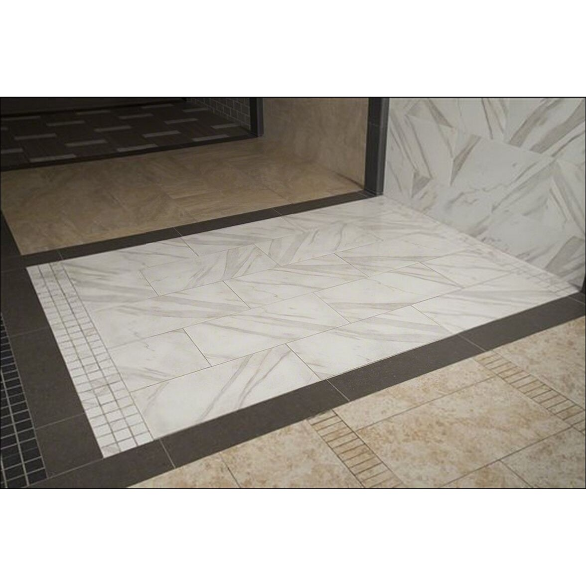 Msi pietra calacatta 12 x 12 porcelain field tile in for 12 x 12 white floor tile