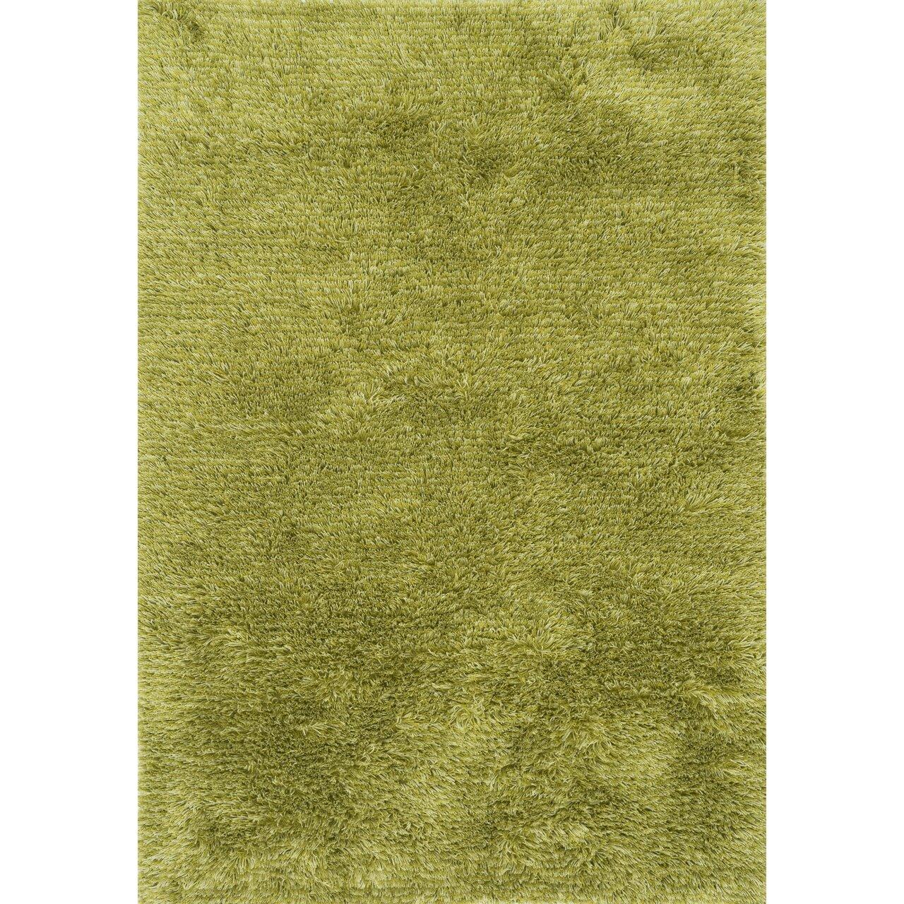 Loloi rugs garden shag green solid lawn indoor outdoor for Landscape indoor area rug