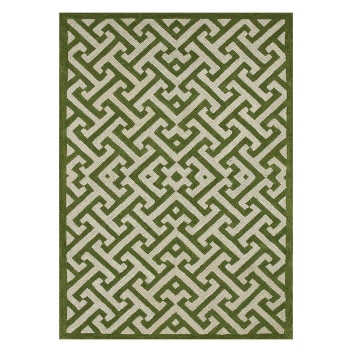 Brighton Lawn Green Ivory Area Rug Wayfair