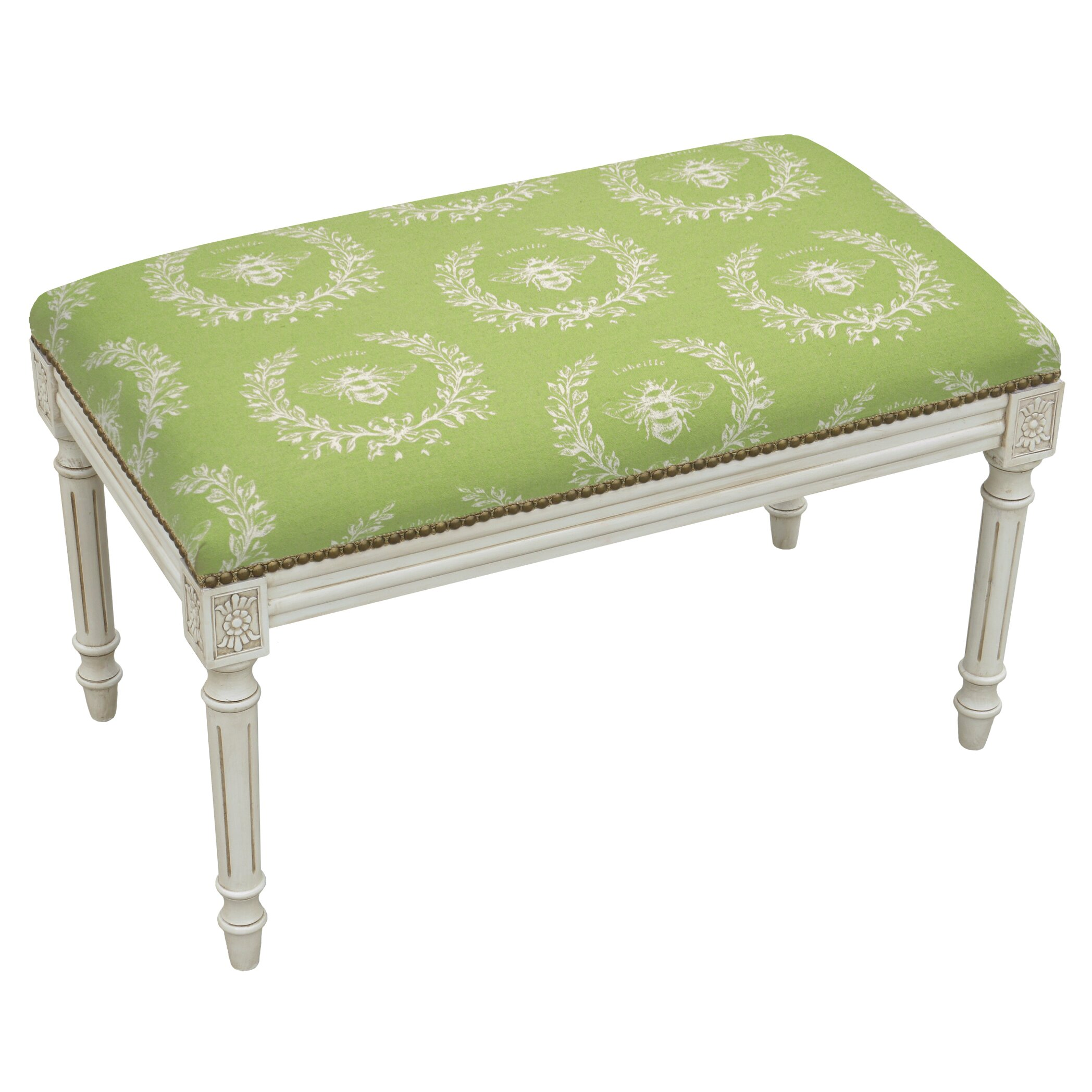 123 Creations French Upholstered And Wood Bench & Reviews Wayfair. Full resolution‎  image, nominally Width 2096 Height 2096 pixels, image with #778942.