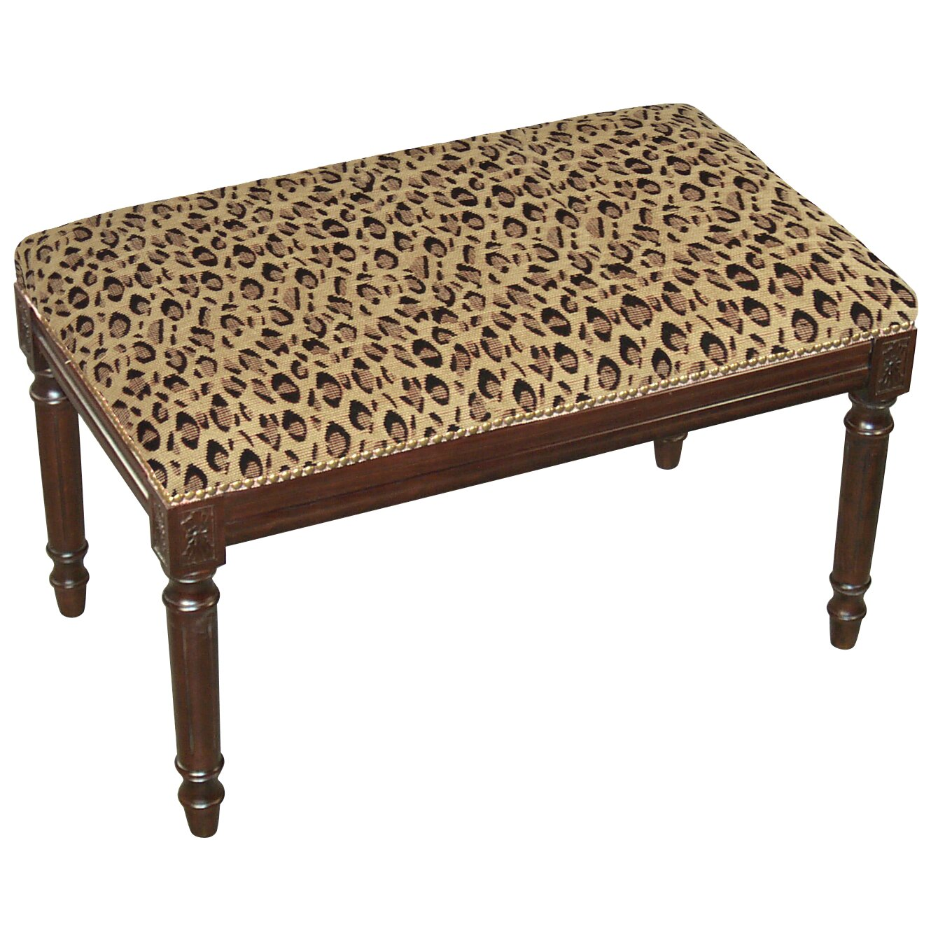 Leopard wood entryway bench wayfair Leopard print bench