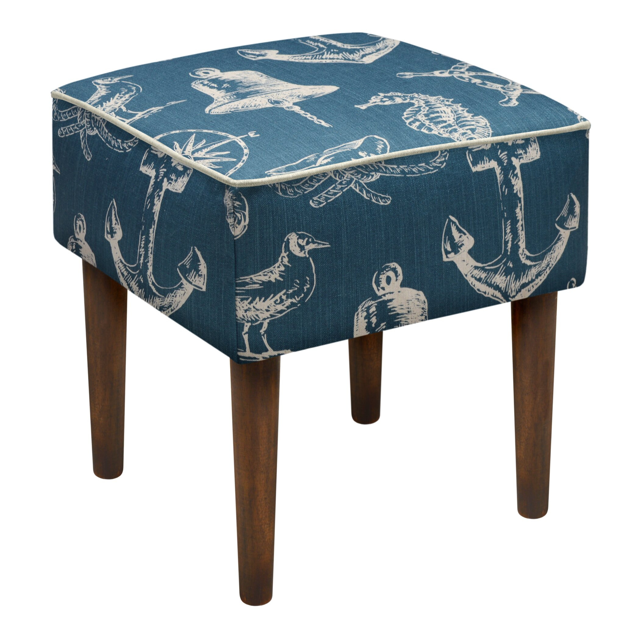nautical upholstered modern vanity stool by 123 creations