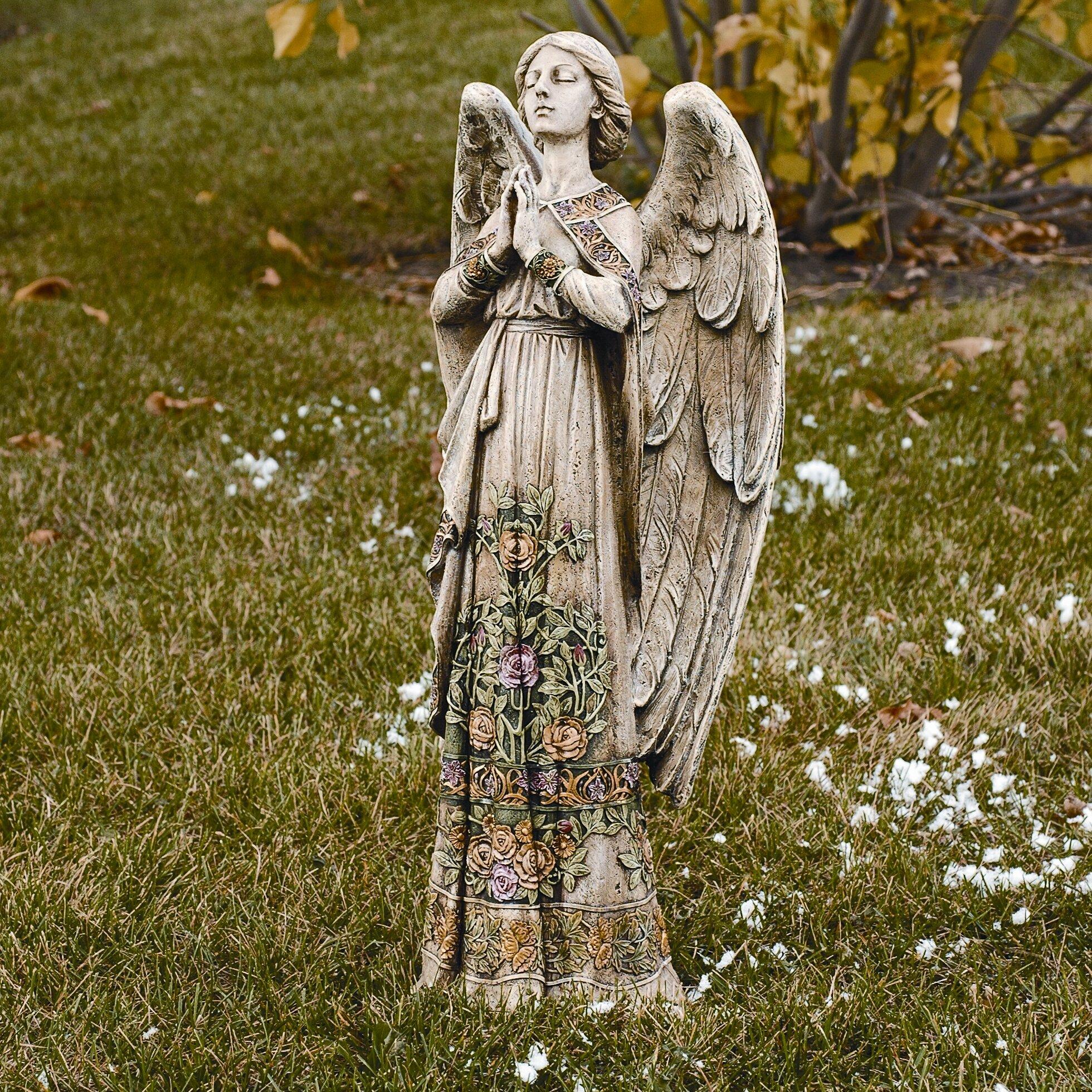 Wayfair Garden Statues: Roman, Inc. Praying Angel Garden Statue & Reviews
