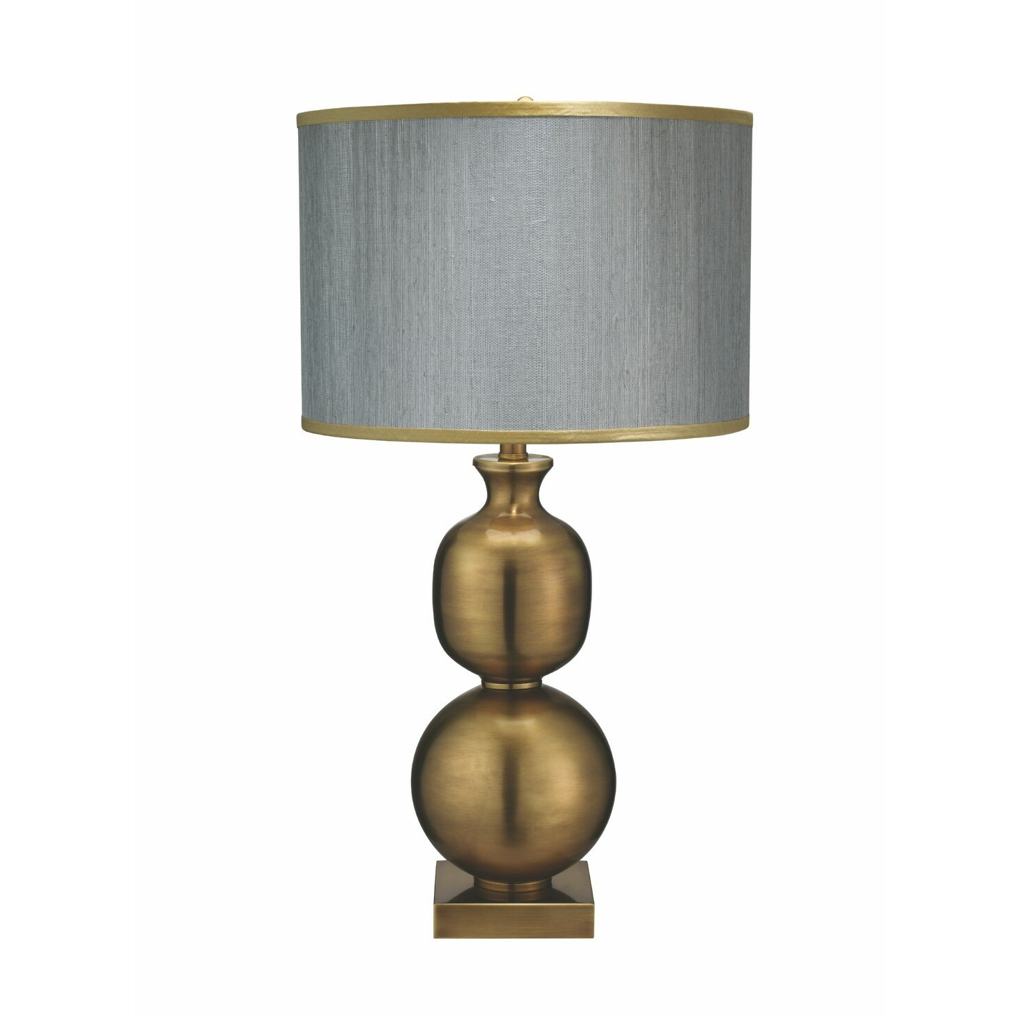 Double Ball 29 5 Quot H Table Lamp With Drum Shade Wayfair