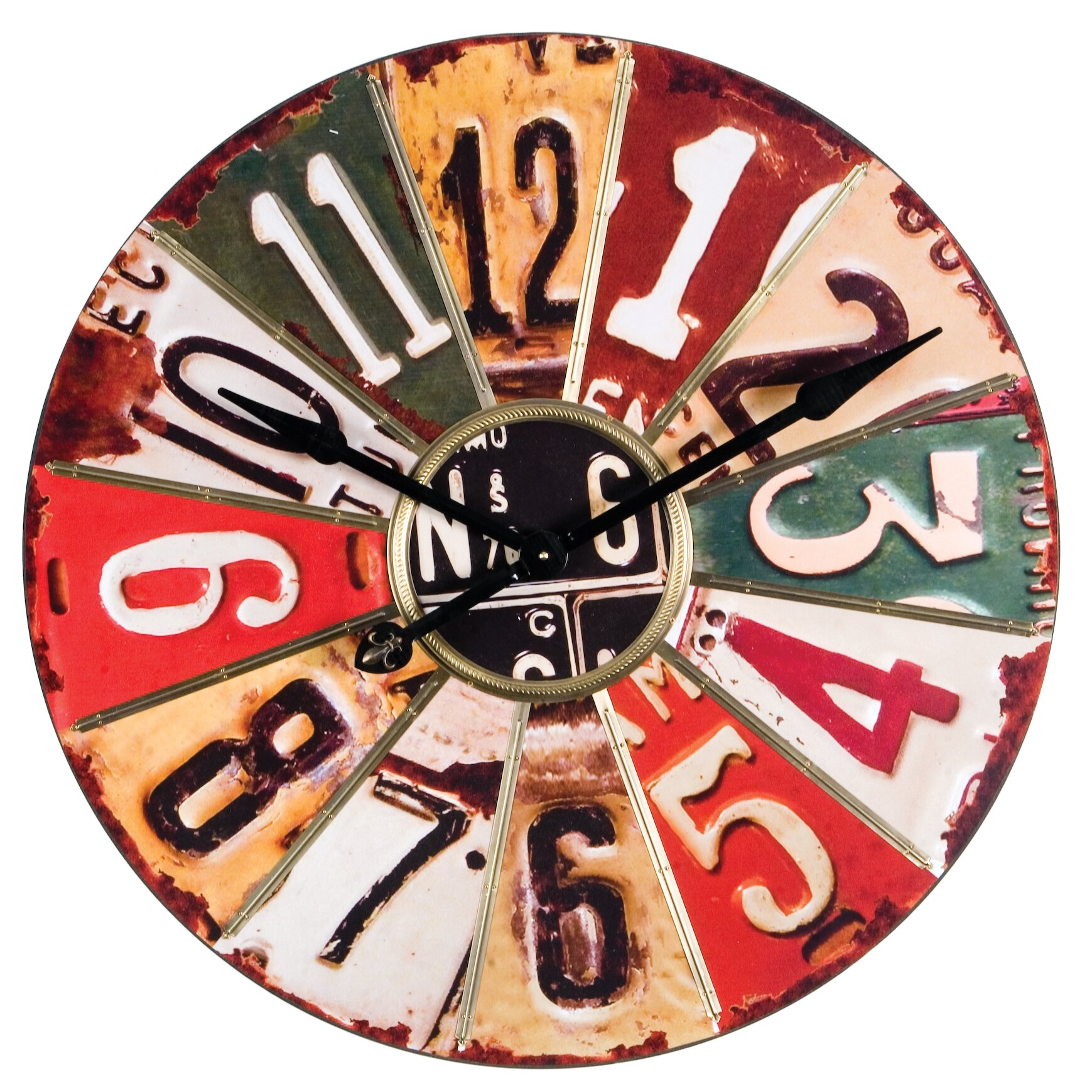 Wilco Home Oversized 29 Quot License Plate Wall Clock