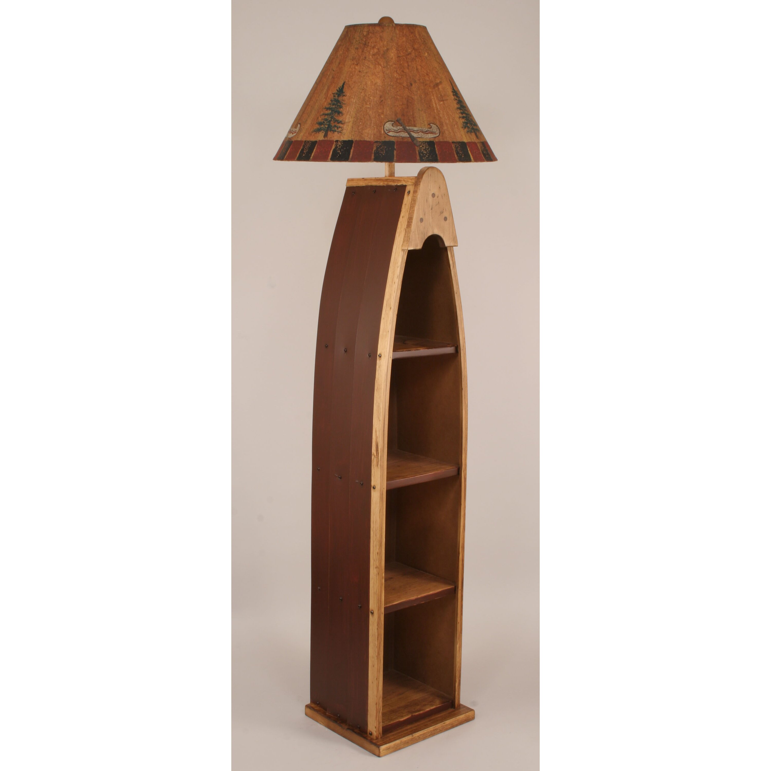 rustic living wooden boat 65 5 floor lamp by coast lamp mfg. Black Bedroom Furniture Sets. Home Design Ideas