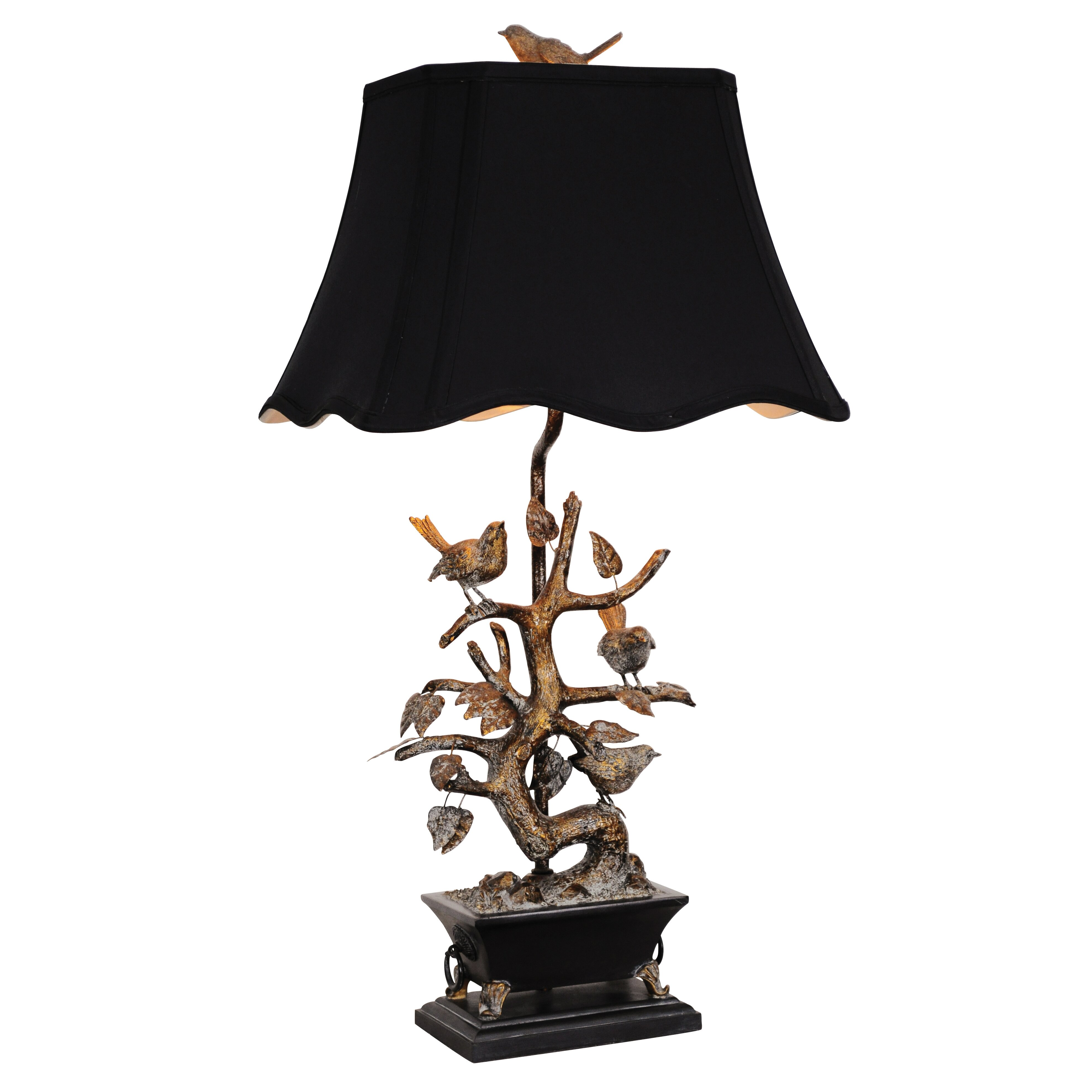 "Couture, Inc. Golden Glamour Bonsai Tree and Bird 32"" H ..."