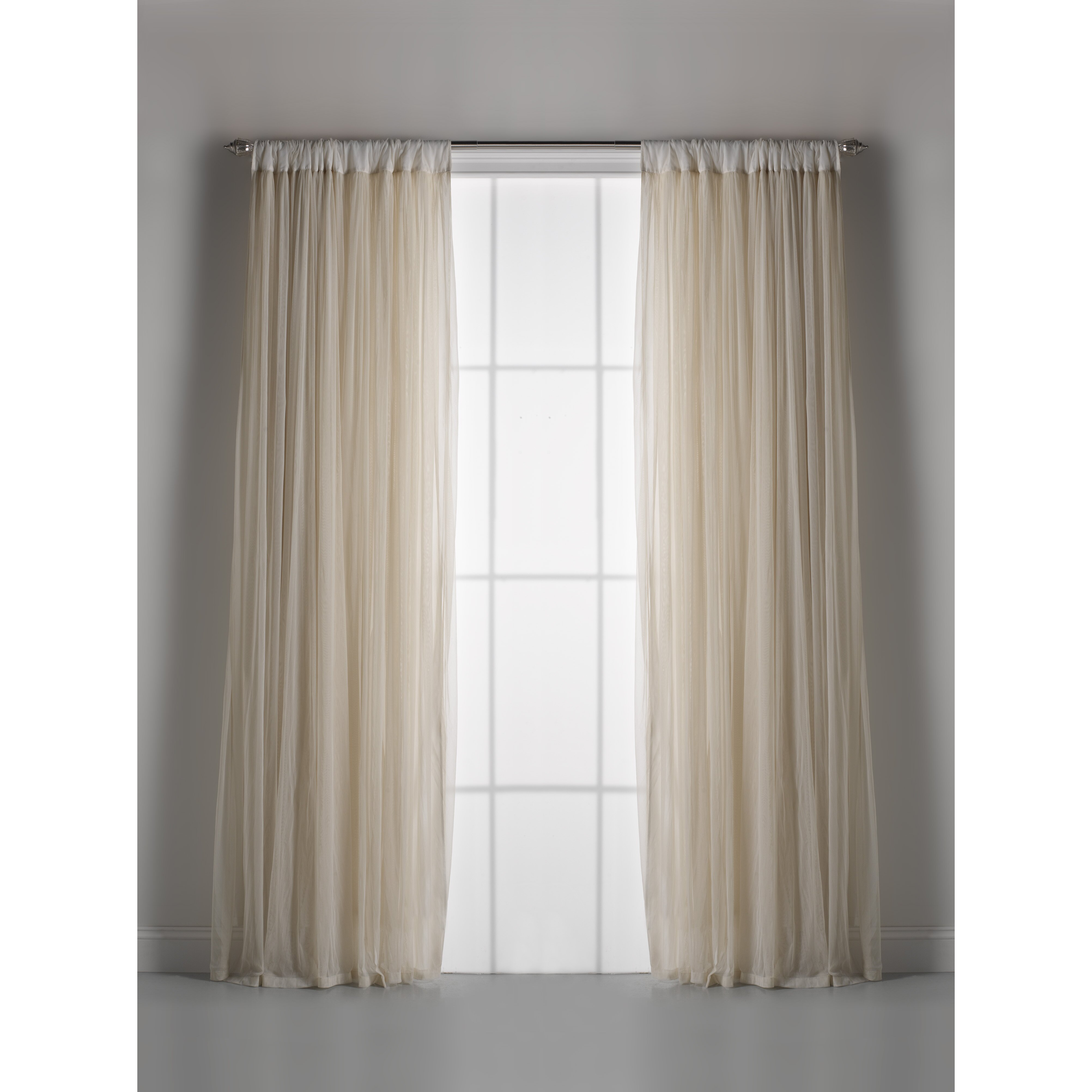 Turn Off Cascading Windows Couture Dreams Whisper % Rod Pocket Window Treatment