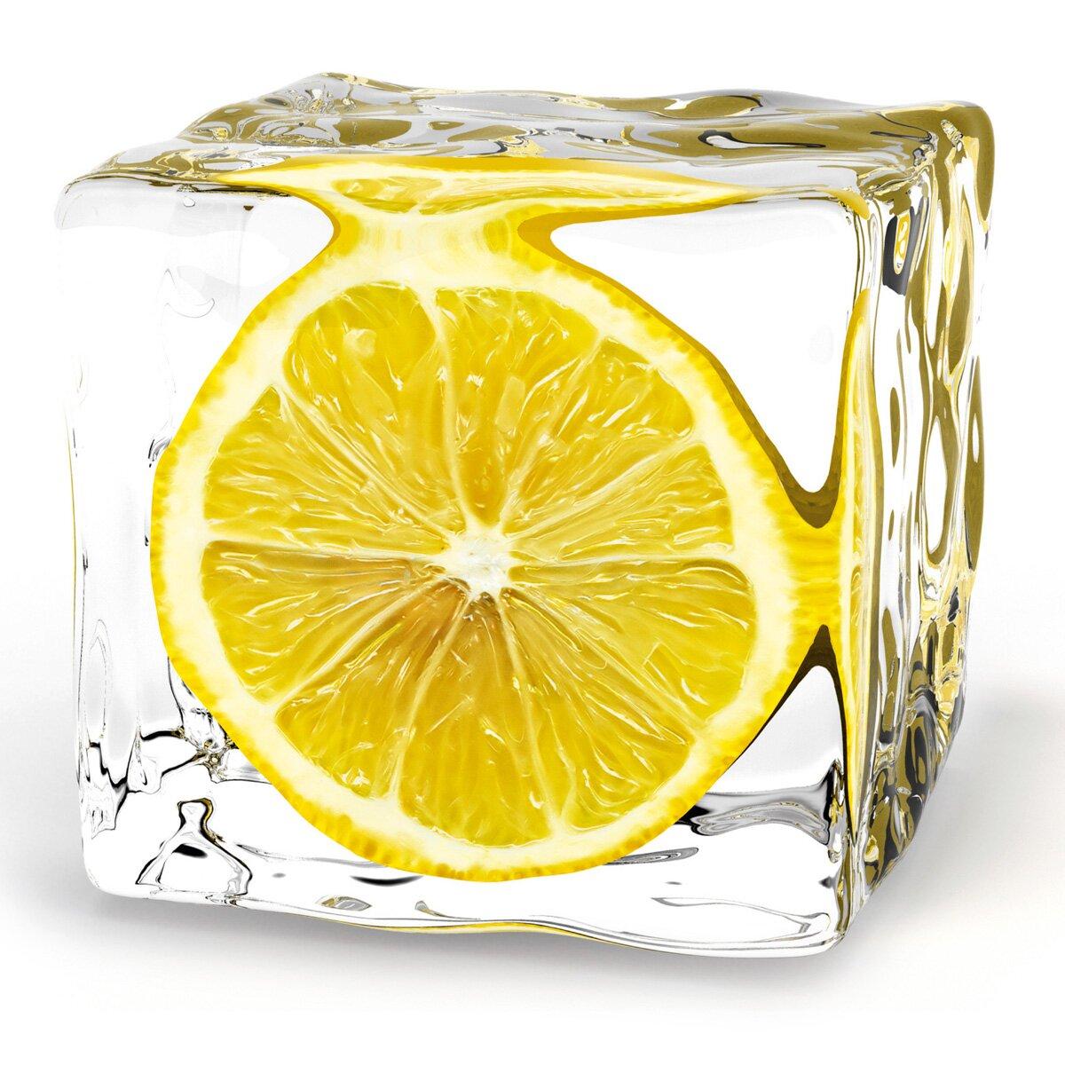 Platin art deco glass iced lemon photographic print reviews wayfair - Deco glace ...