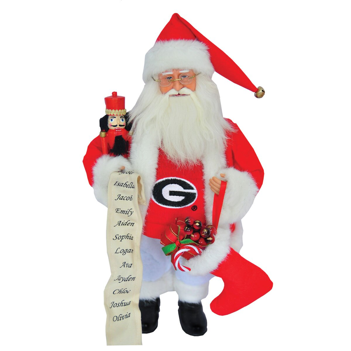 Santa S Workshop Ncaa 15 Quot Santa With Nutcracker Amp Reviews