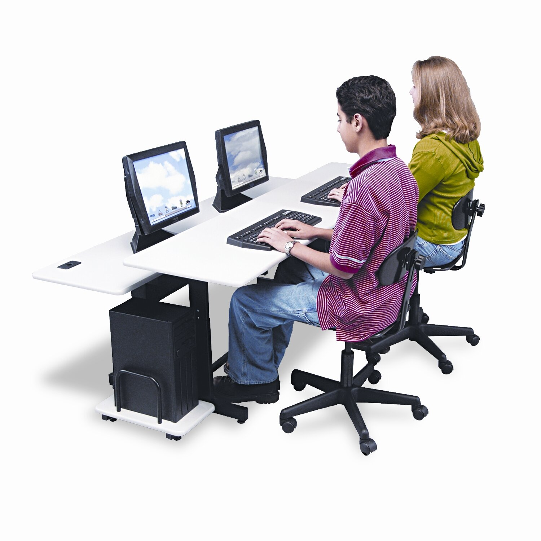 "Split Level Adjustable 75"" W X 36"" D Training Table"