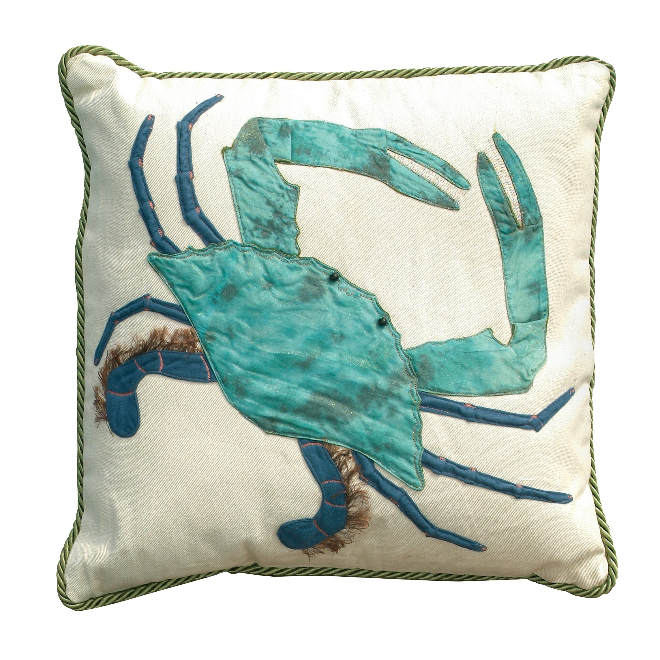 Rightside Design I Sea Life King of the Chesapeake Crab Cotton Throw Pillow & Reviews Wayfair