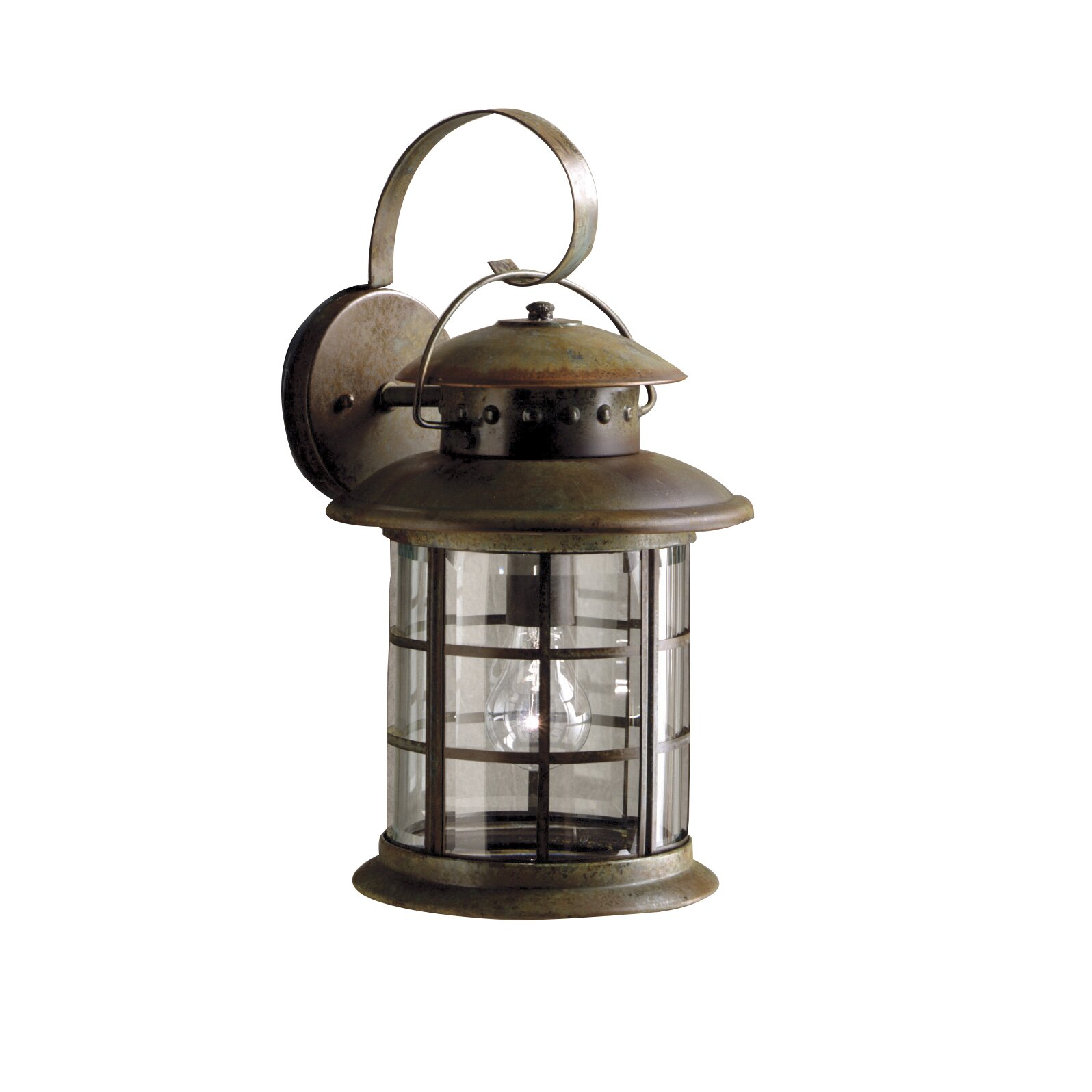Rustic 1 Light Wall Lantern Wayfair