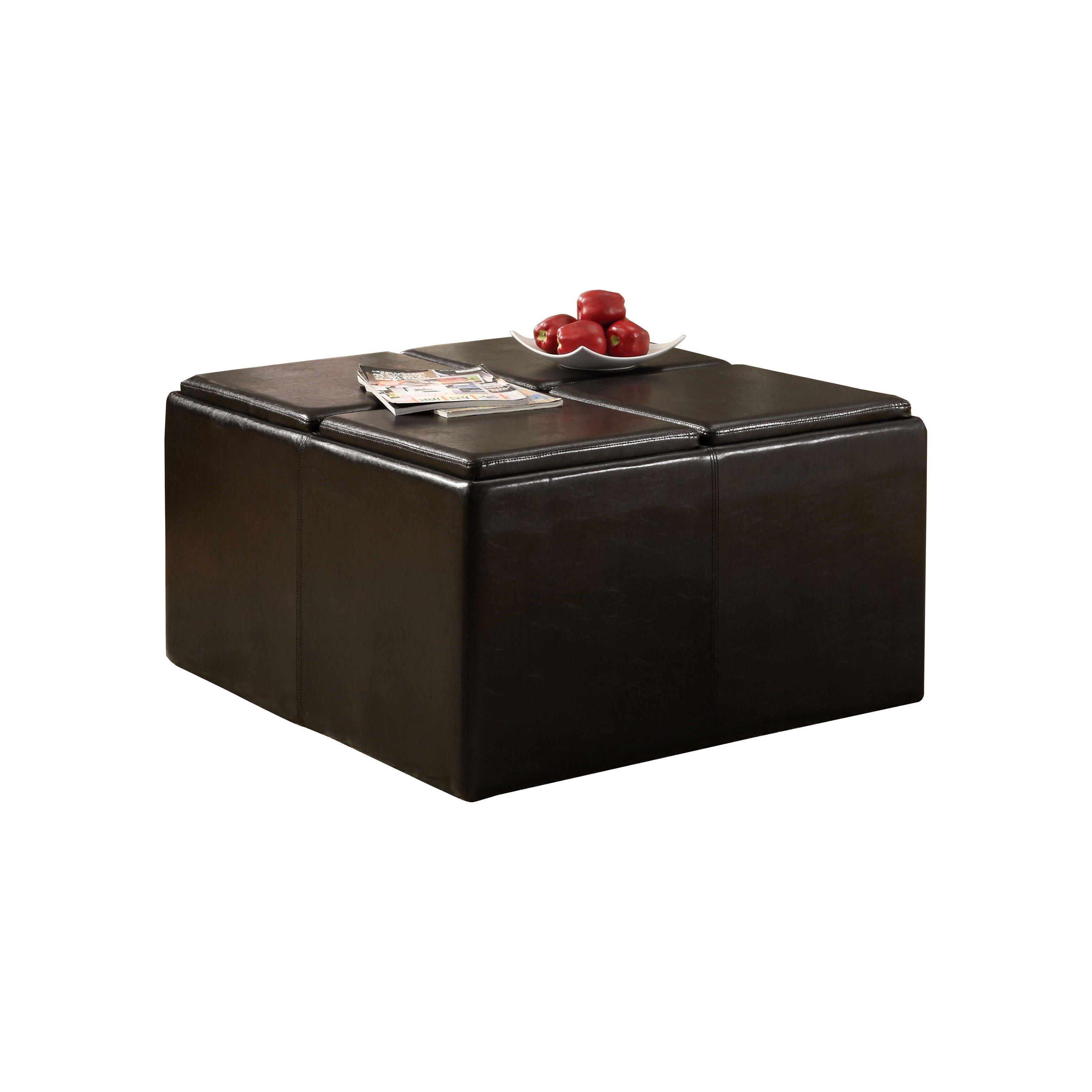 Hokku Designs 5 Piece Verano Coffee Table Ottoman Set Reviews Wayfair