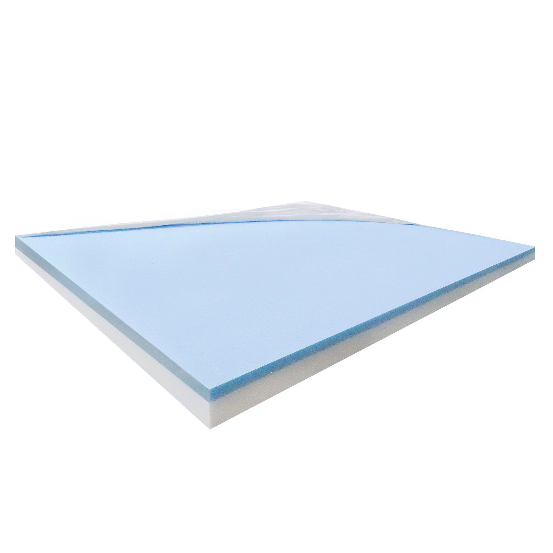 """Furinno Healthy Sleep 4"""" Visco Elastic Gel Memory Foam"""