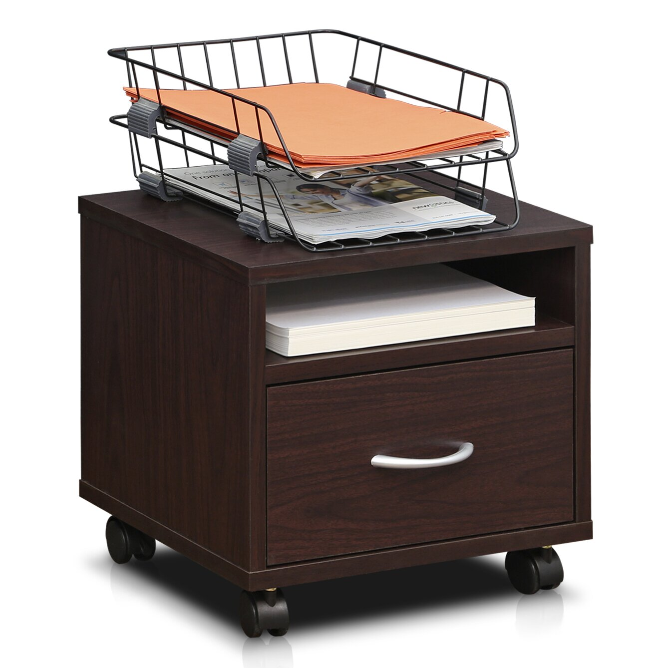 Furinno Indo Petite Under Desk Utility Cart with Casters & Reviews | Wayfair