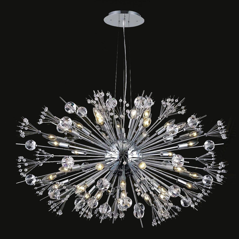 Worldwide Lighting Starburst 24 Light Crystal Chandelier